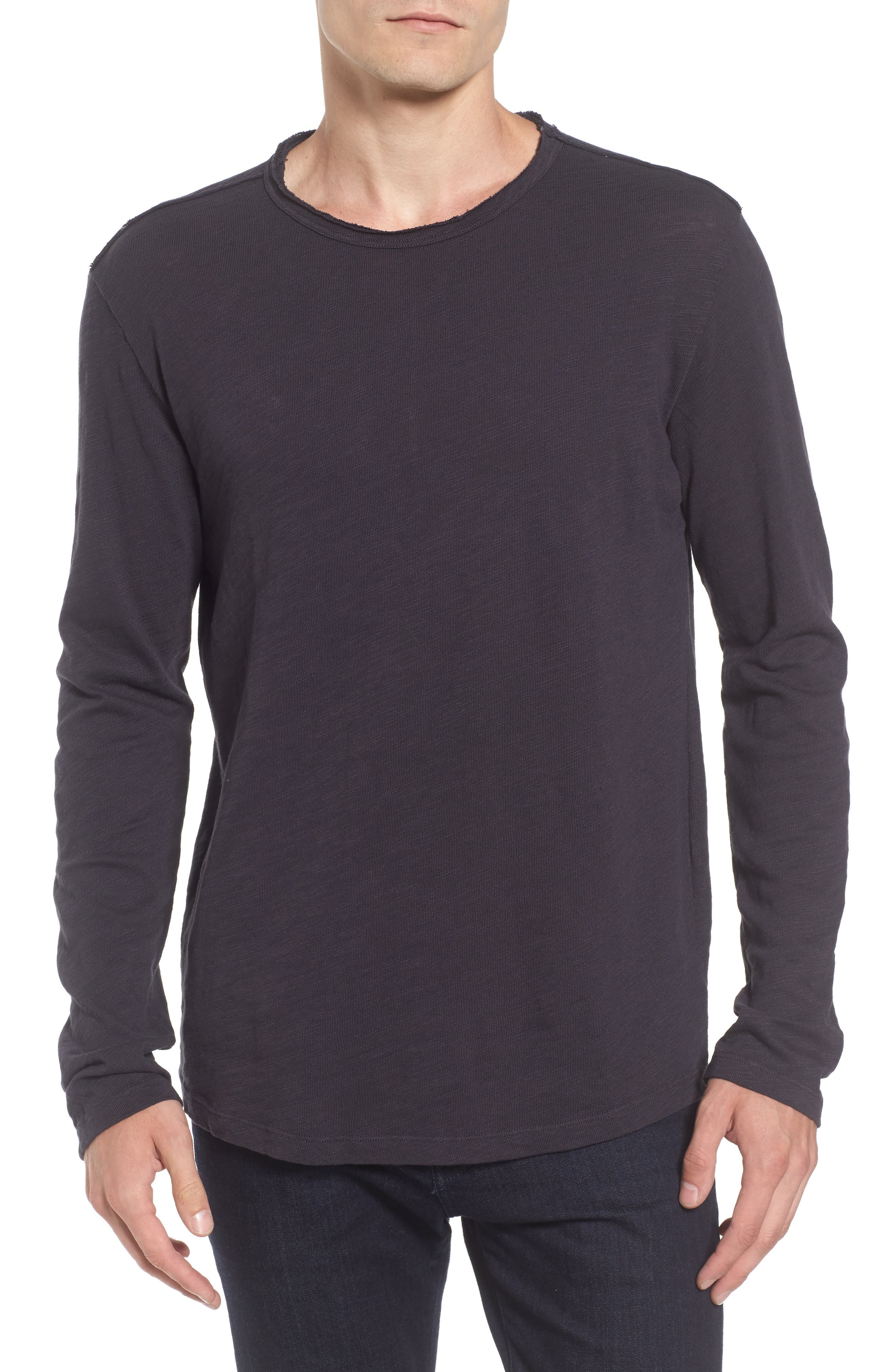 Slub Long Sleeve T-Shirt,                         Main,                         color,