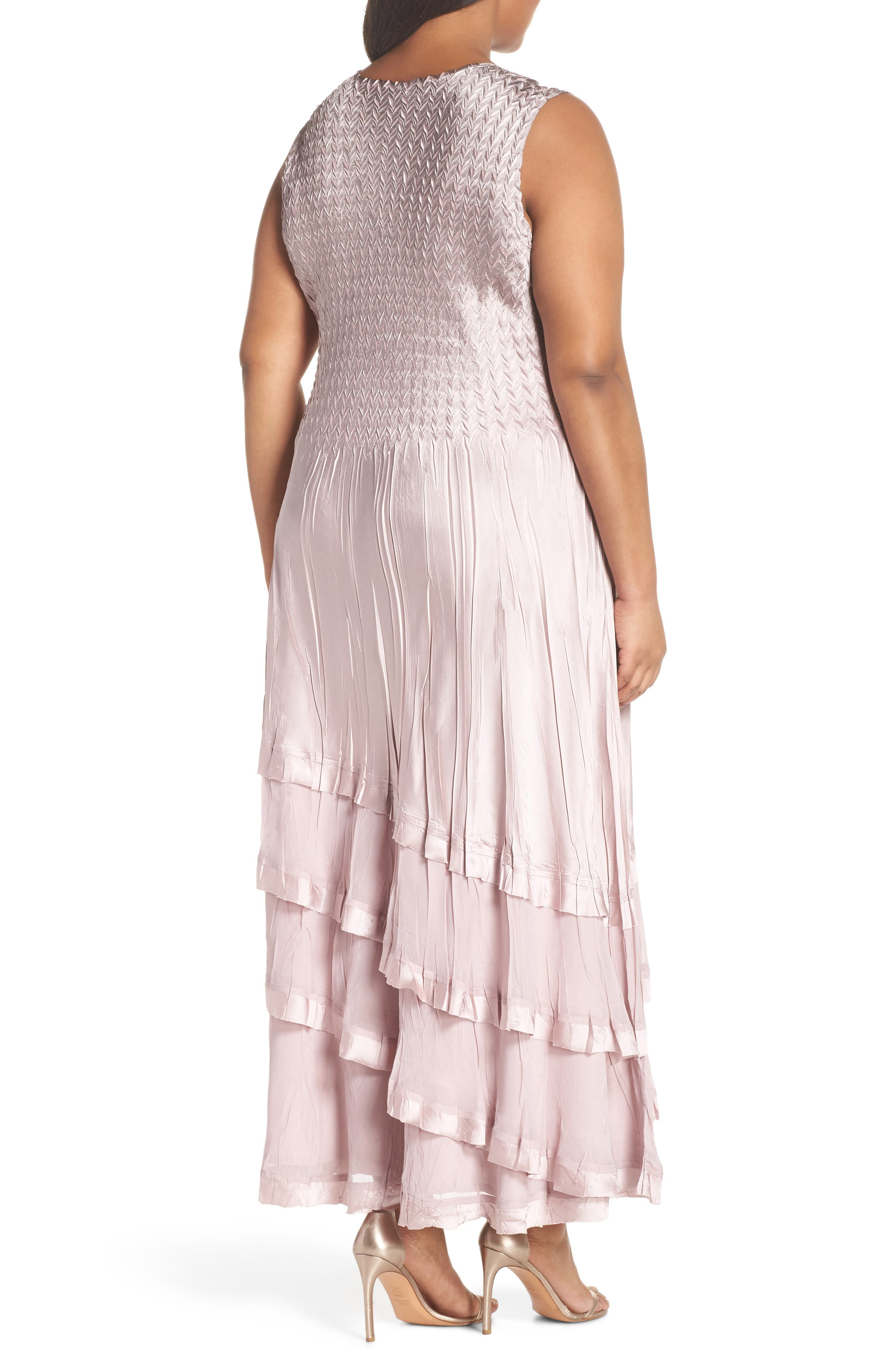 Tiered Maxi Dress with Jacket,                             Alternate thumbnail 4, color,                             657