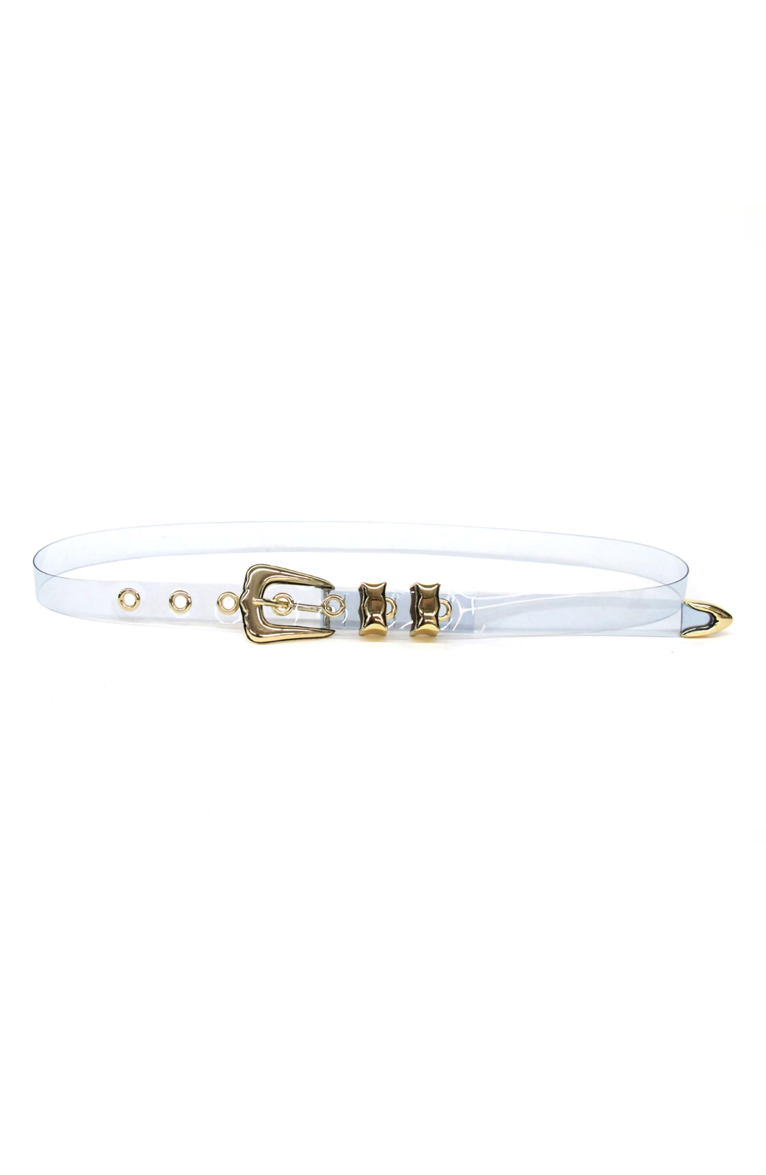 B-Low The Belt Lennie Transparent Belt, Sky/ Gold