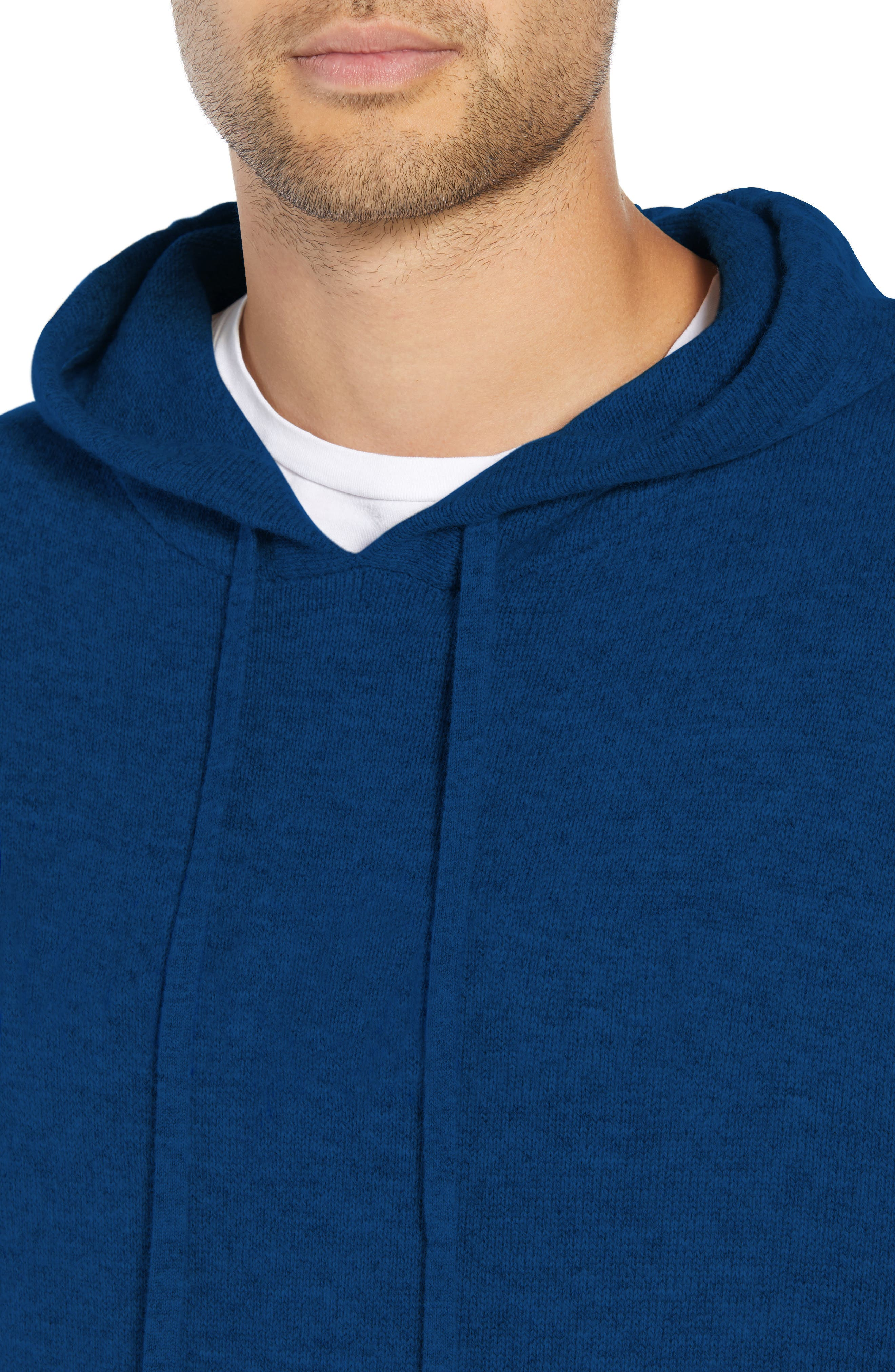 Classic Fit Hoodie Sweater,                             Alternate thumbnail 4, color,                             NAVY
