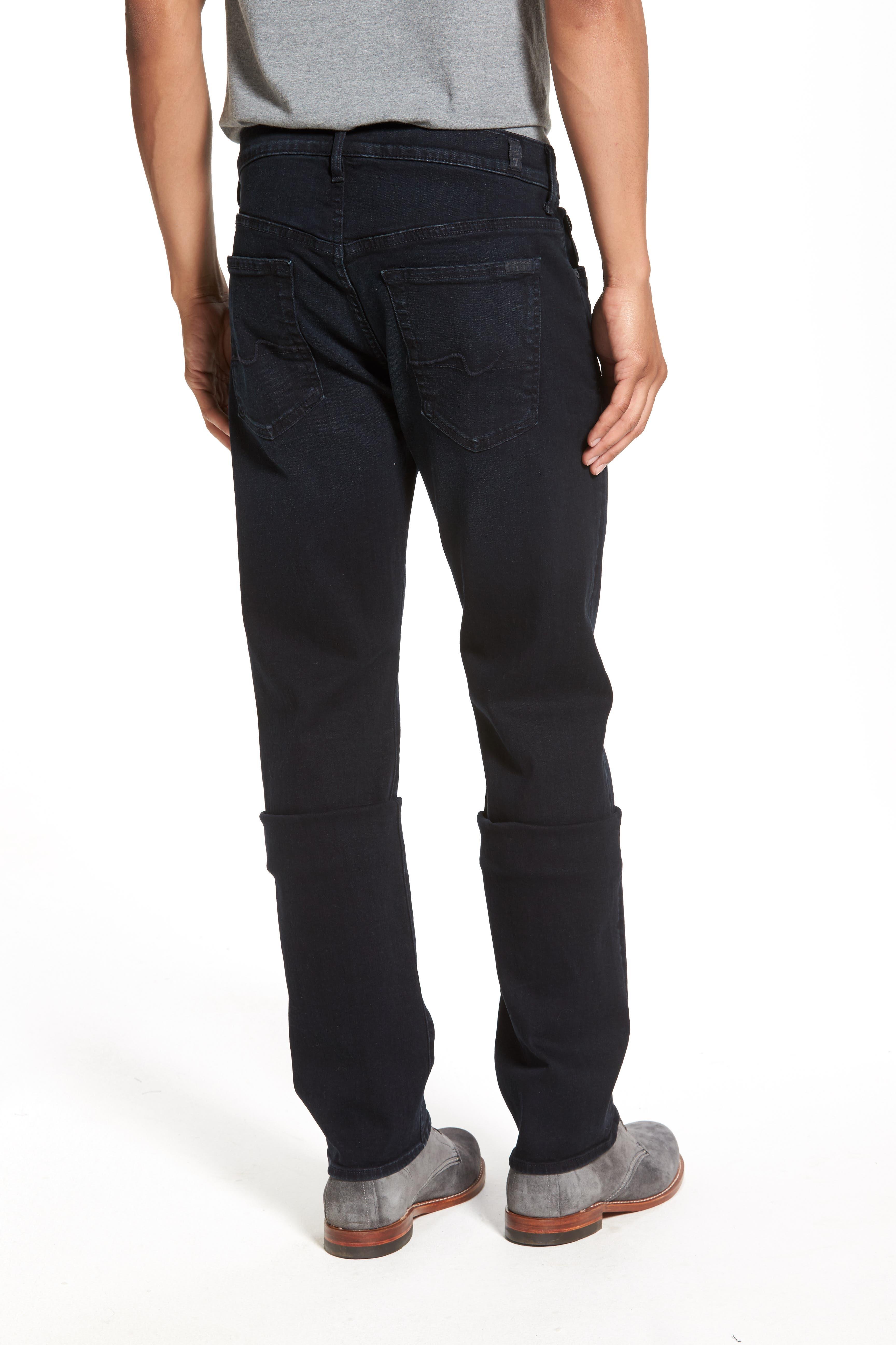 'Standard - Luxe Performance' Straight Leg Jeans,                             Alternate thumbnail 4, color,                             STOCKHOLME