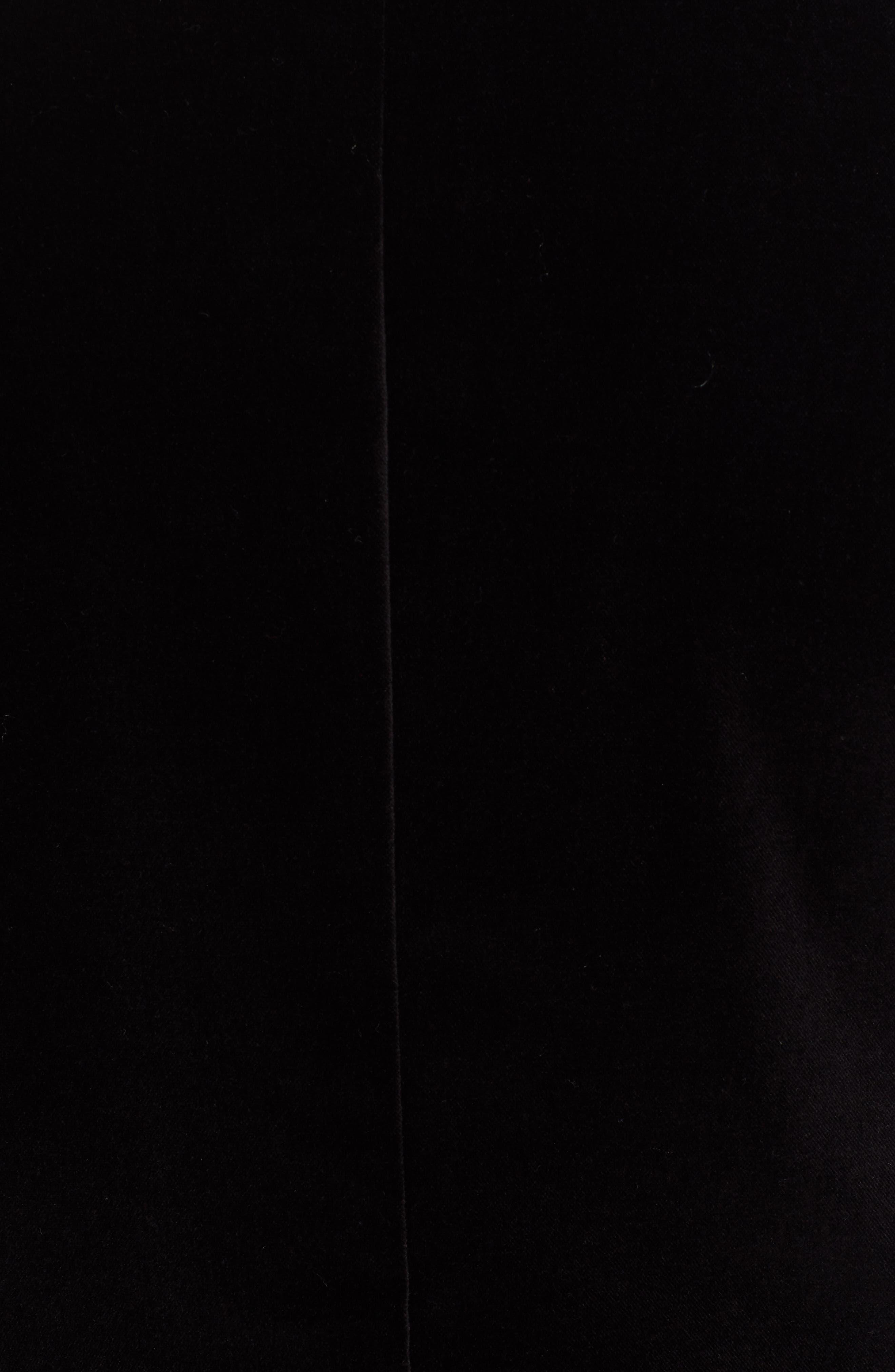 Velveteen Blazer,                             Alternate thumbnail 6, color,                             BLACK
