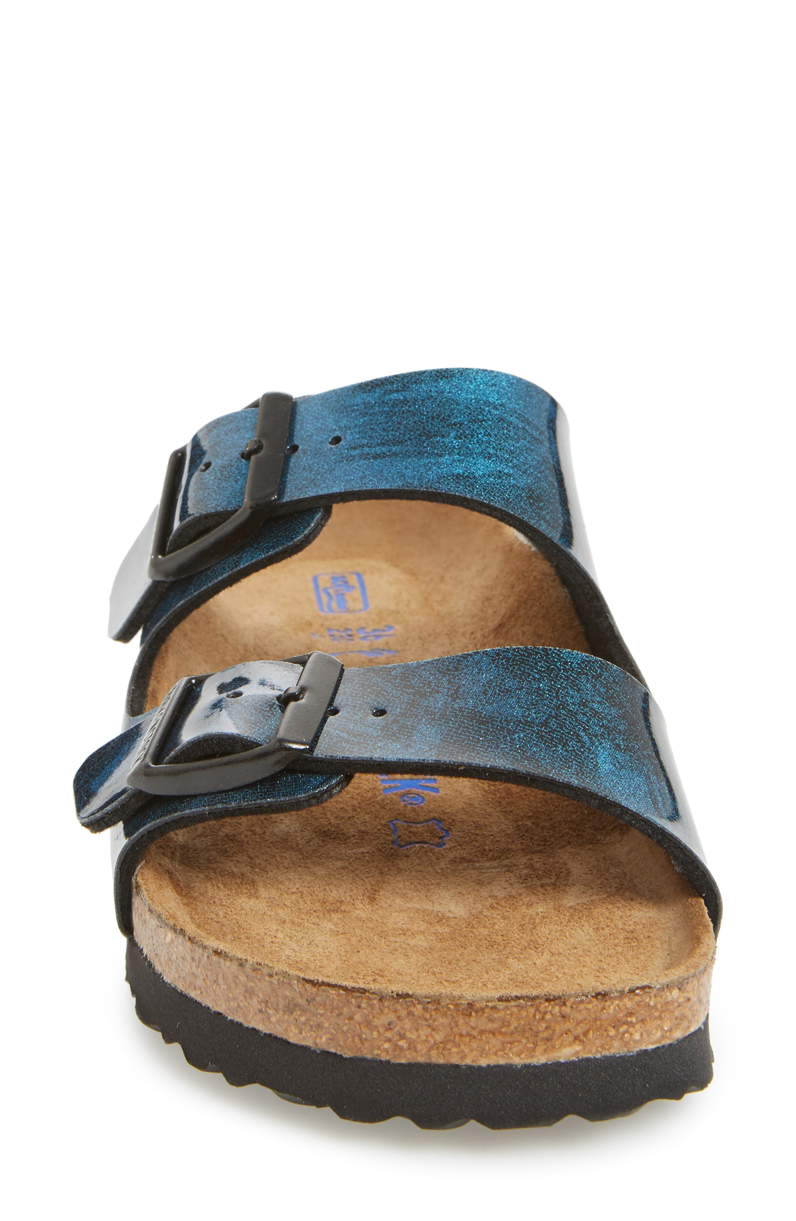 Arizona Birko-Flor Soft Footbed Sandal,                             Alternate thumbnail 4, color,                             MILKY WAY BLUE