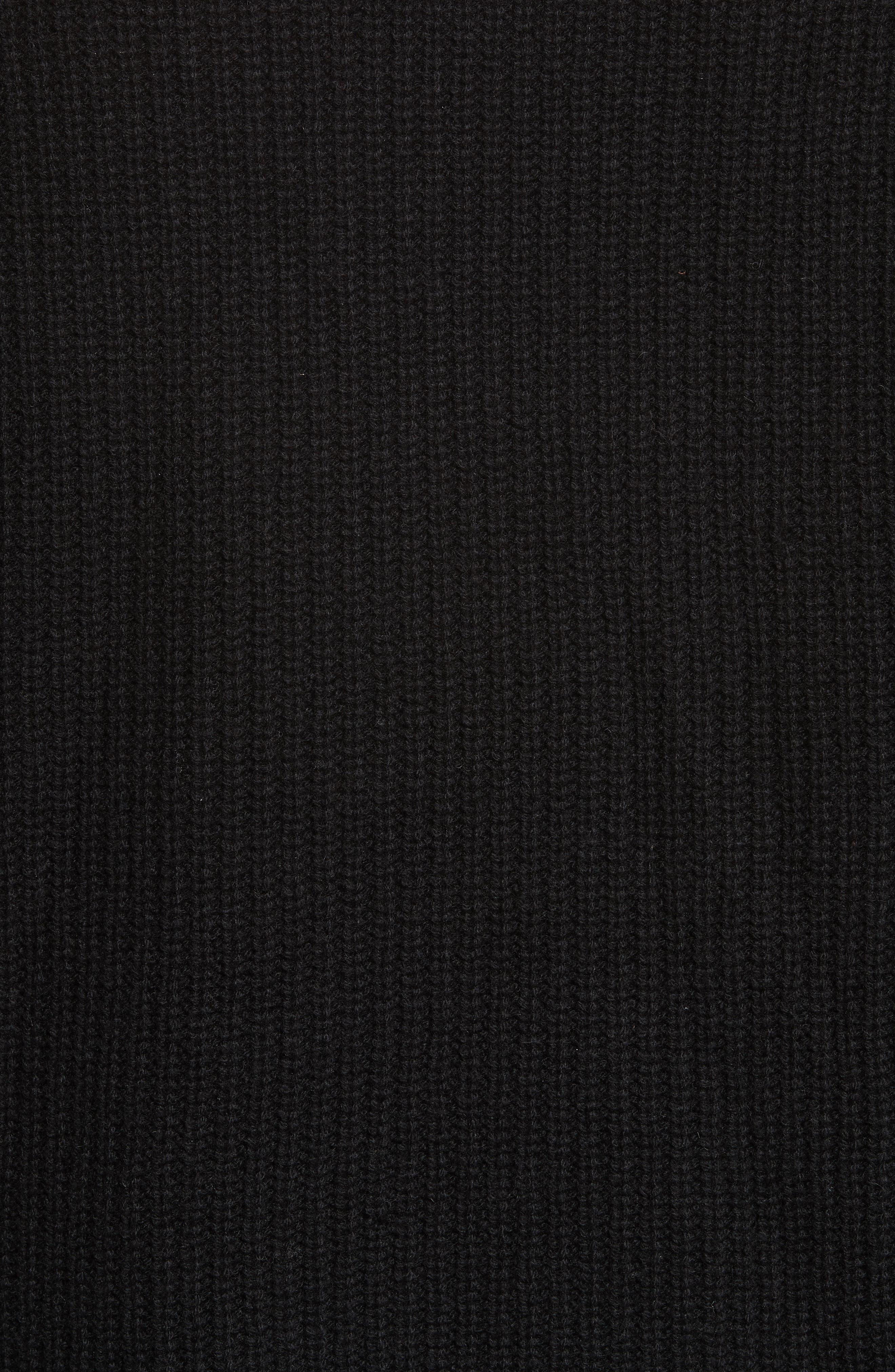 JENNI KAYNE,                             Fisherman Crewneck Cashmere Sweater,                             Alternate thumbnail 5, color,                             001