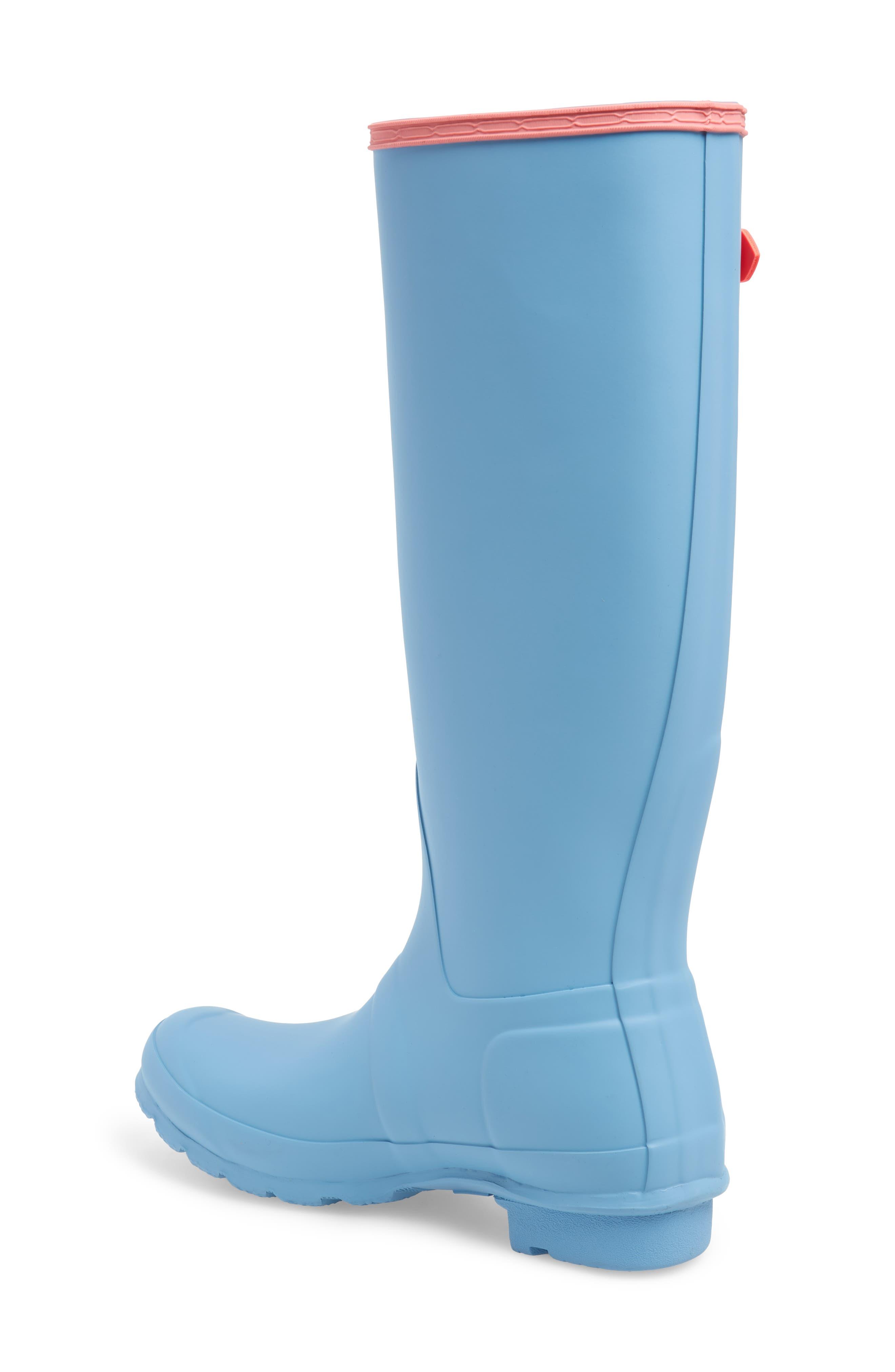 Original Colorblock Knee High Rain Boot,                             Alternate thumbnail 2, color,                             PALE BLUE