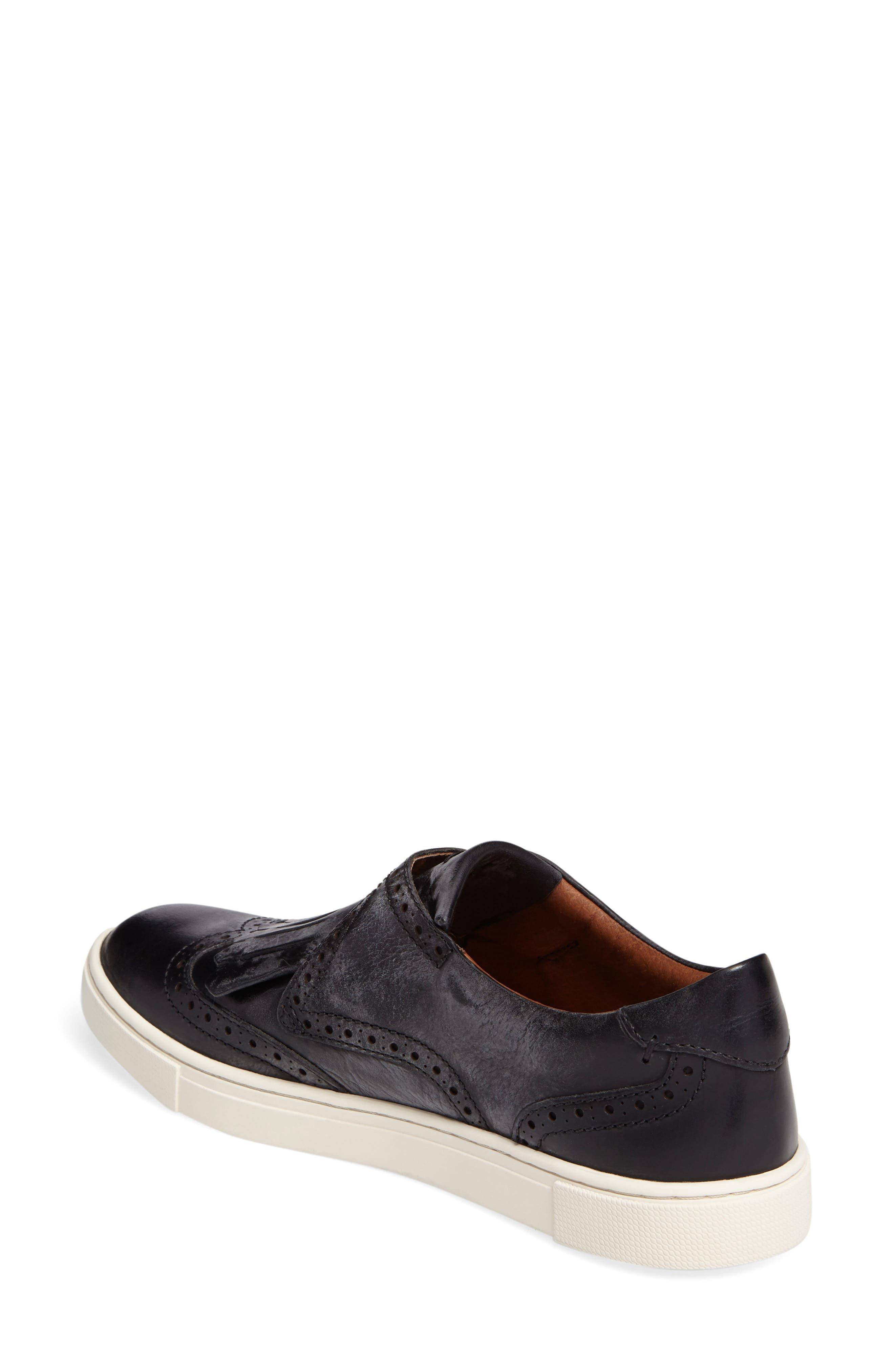 'Gemma' Kiltie Slip On-Sneaker,                             Alternate thumbnail 2, color,                             001