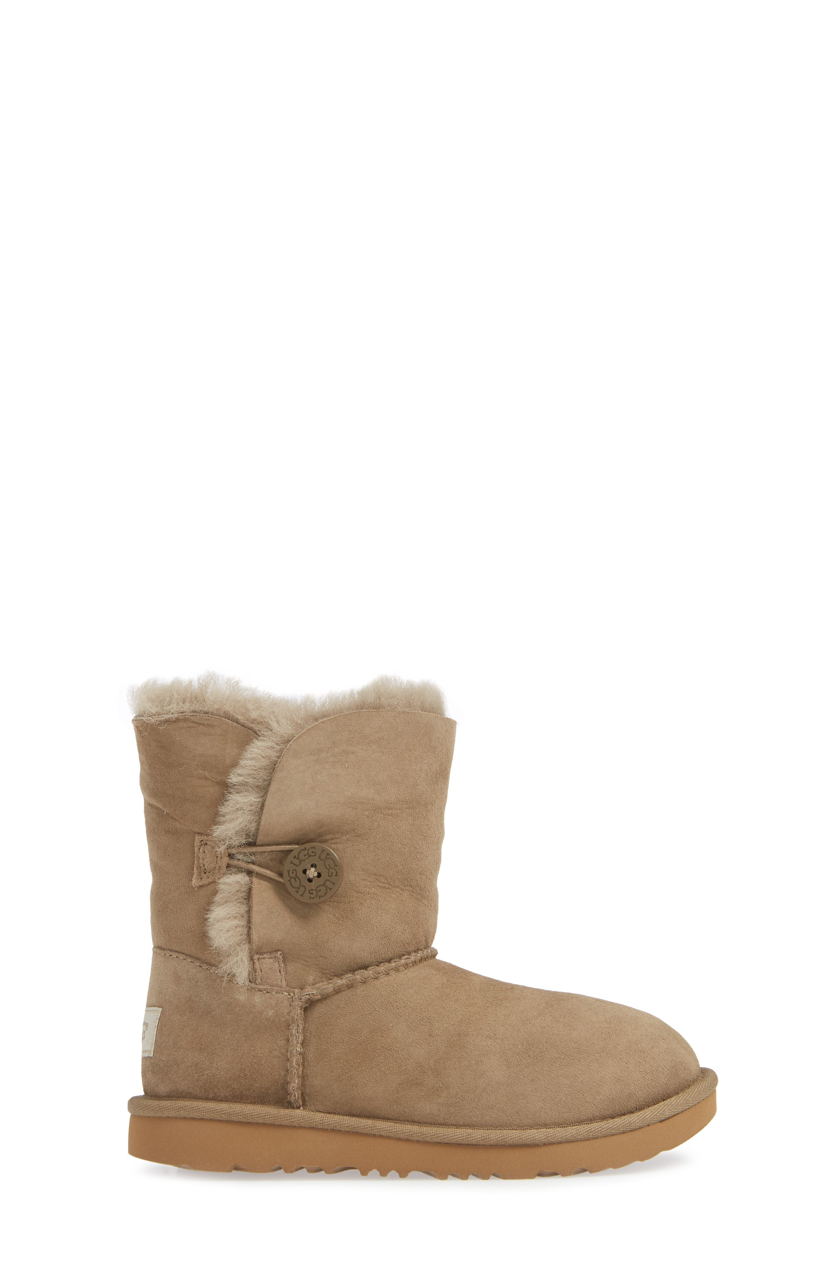 Bailey Button II Water Resistant Genuine Shearling Boot,                             Alternate thumbnail 3, color,                             ANTELOPE