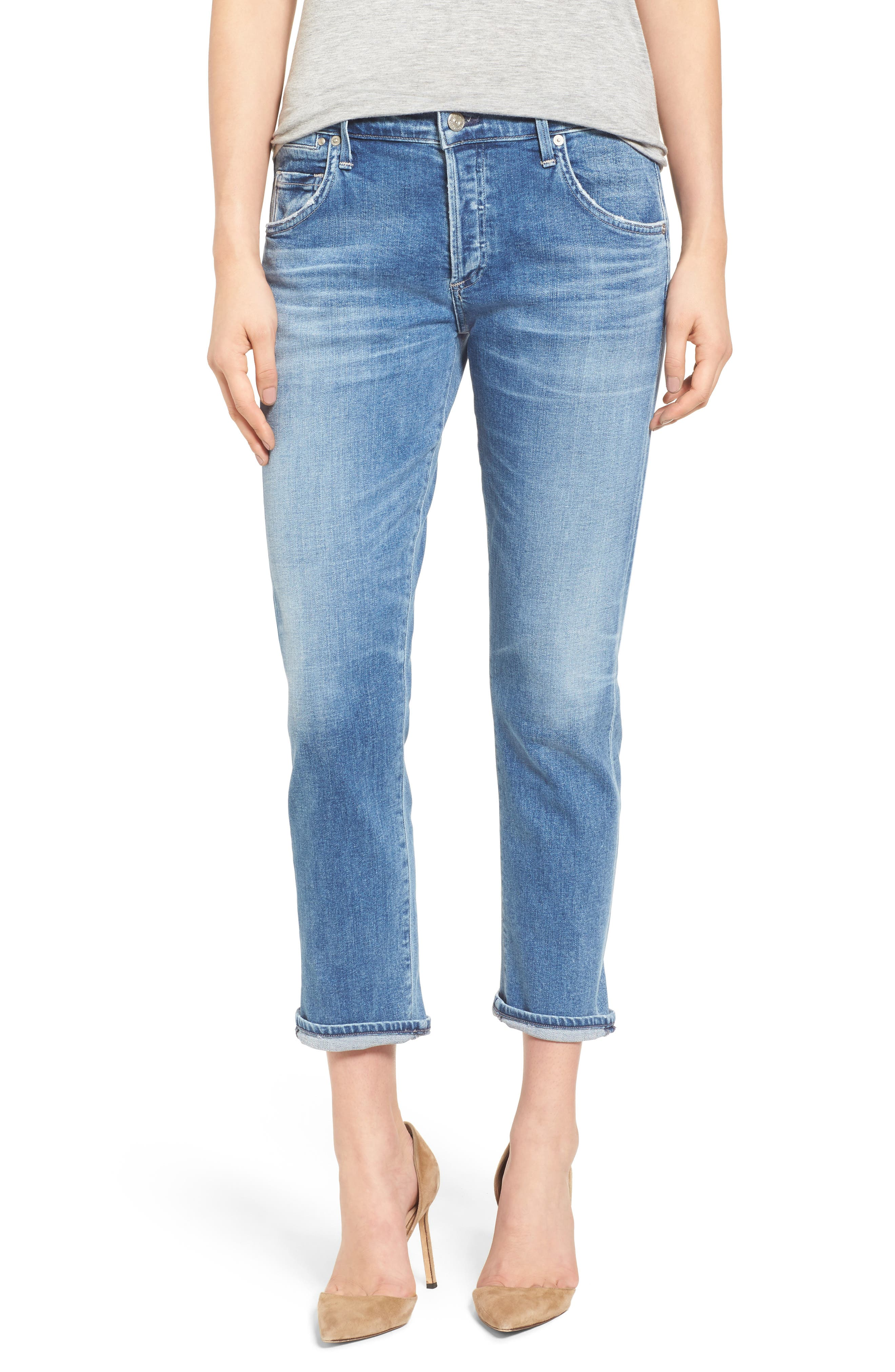 Emerson Slim Boyfriend Jeans,                         Main,                         color, 424