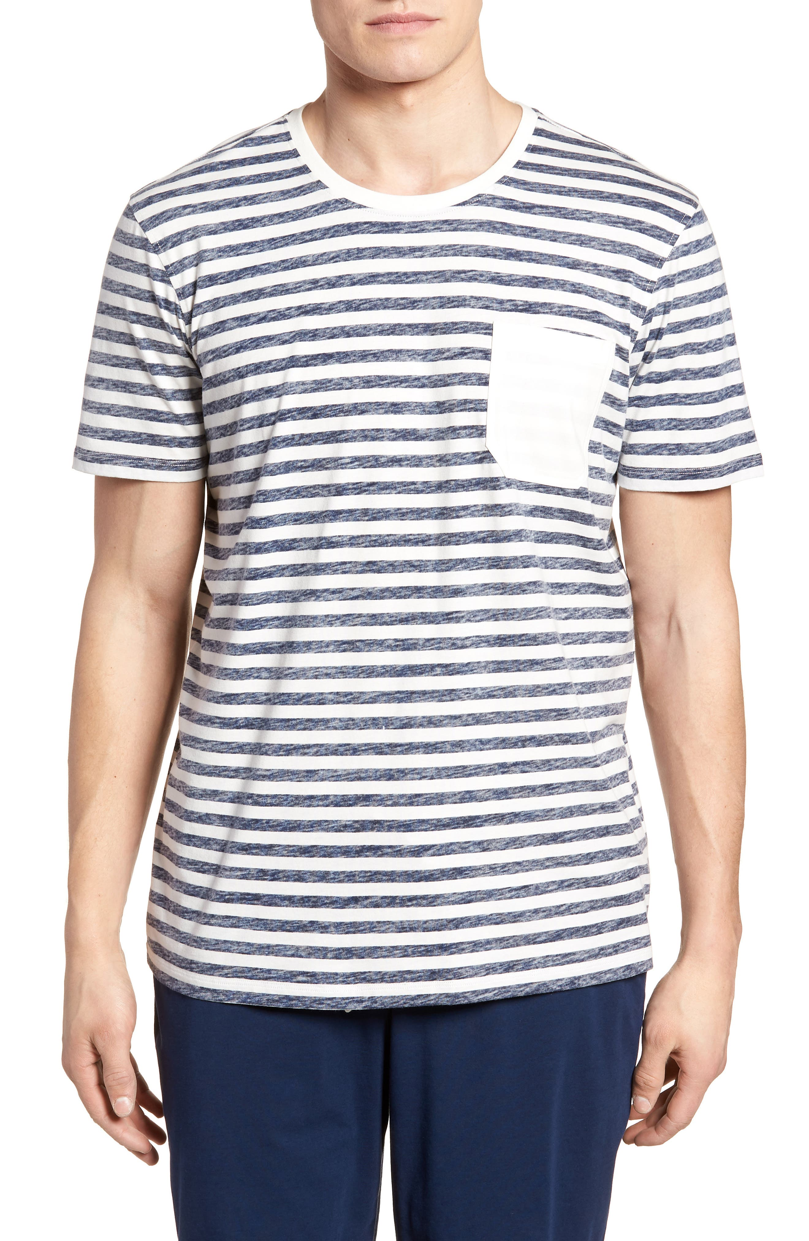 Stripe T-Shirt,                             Main thumbnail 1, color,                             NAVY STRIPE