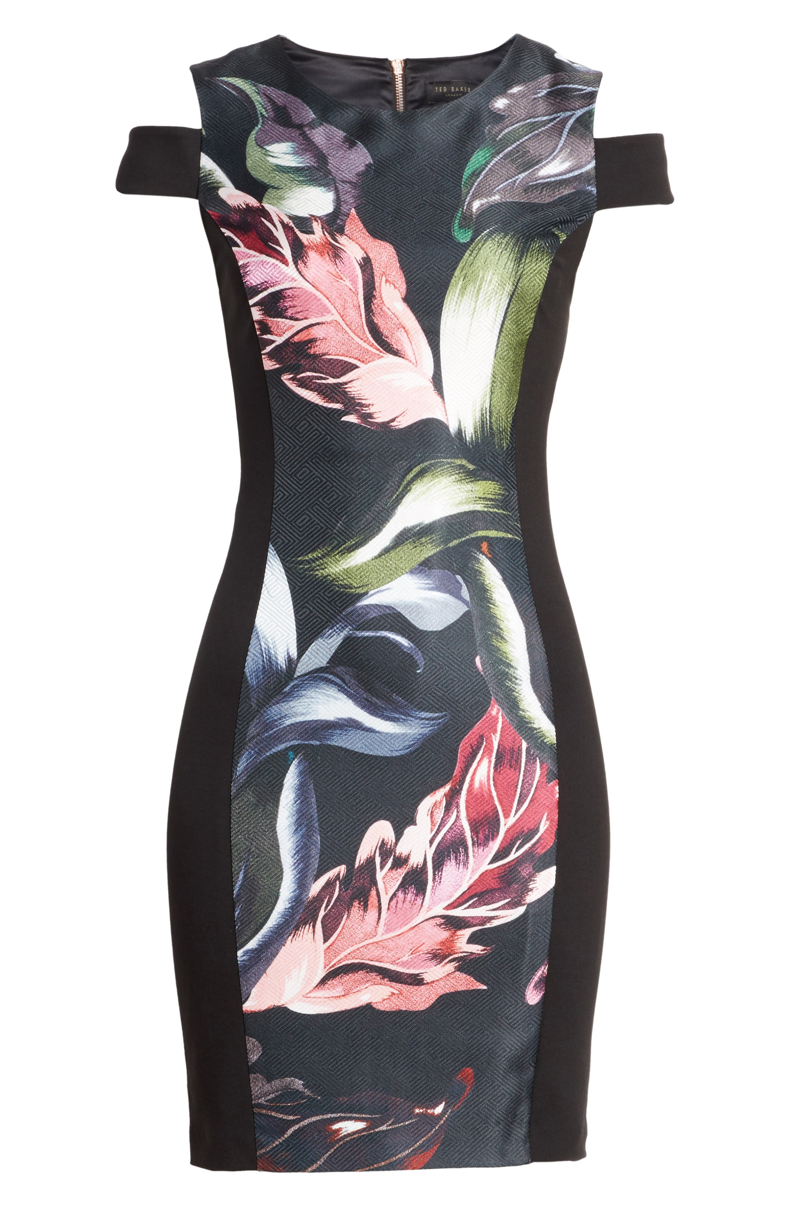 Leeash Eden Body Con Dress,                             Alternate thumbnail 6, color,                             001