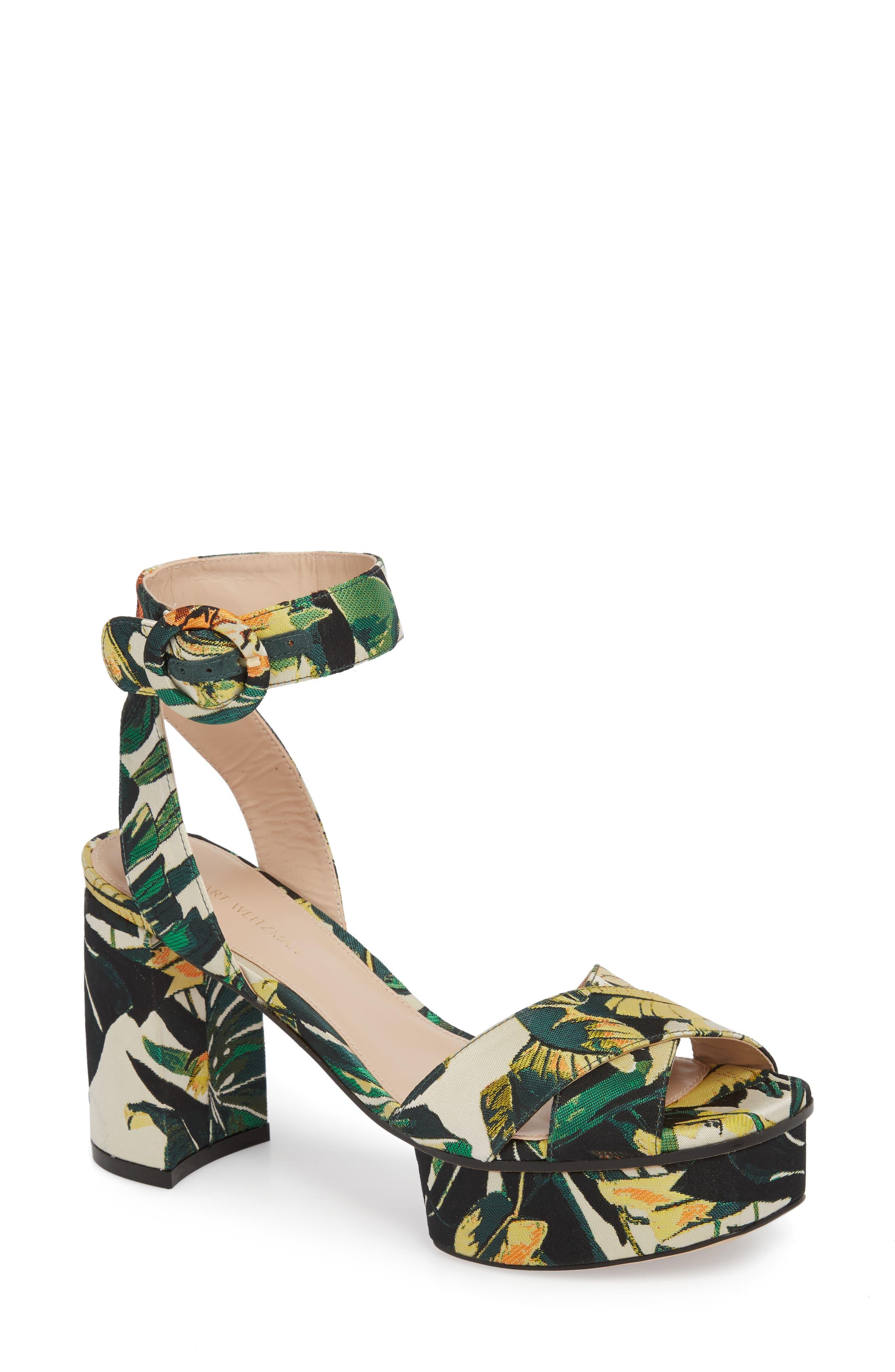 Carmina Ankle Strap Platform Sandal,                             Main thumbnail 4, color,