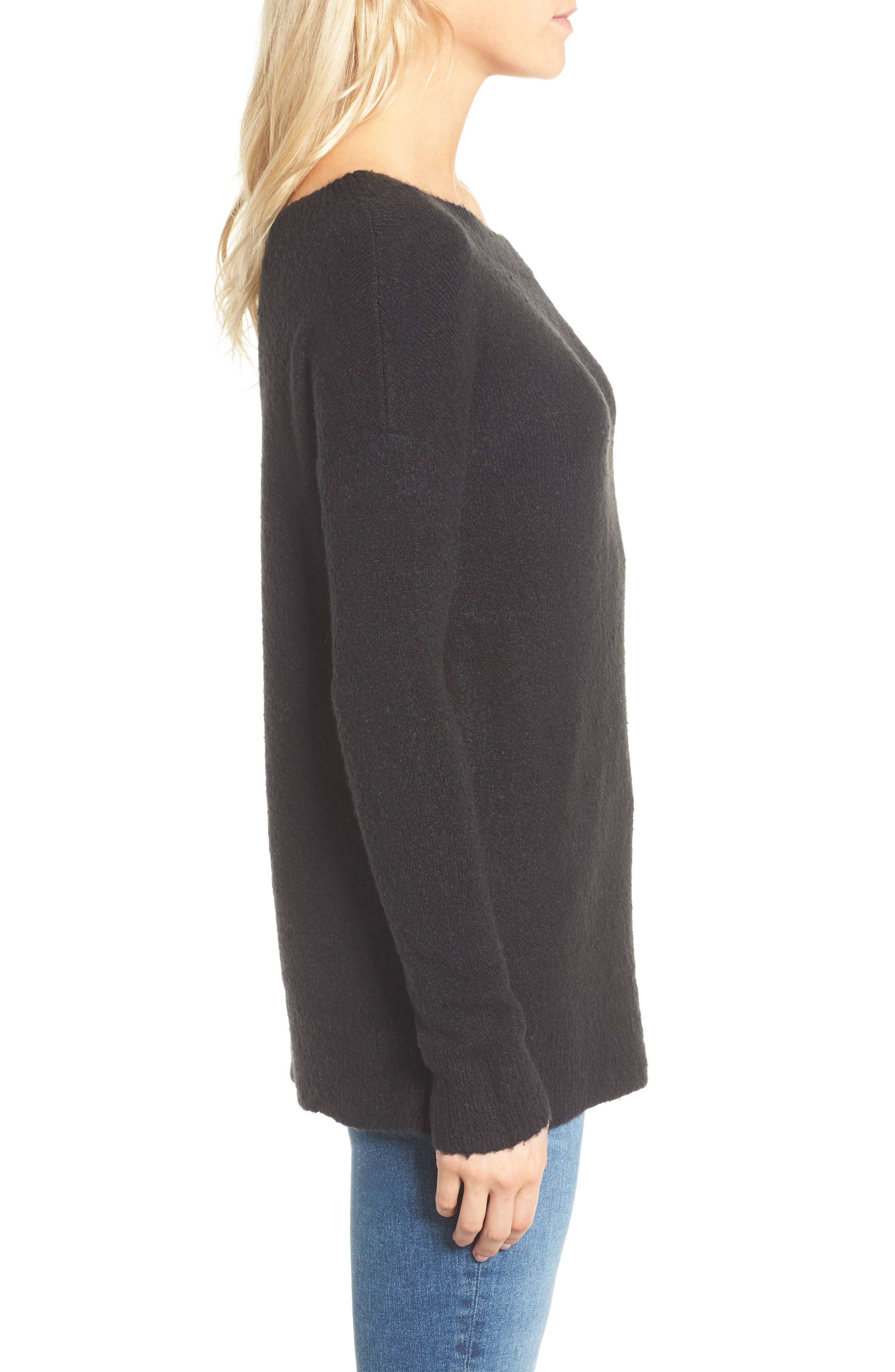 Urban Flossy One-Shoulder Sweater,                             Alternate thumbnail 5, color,