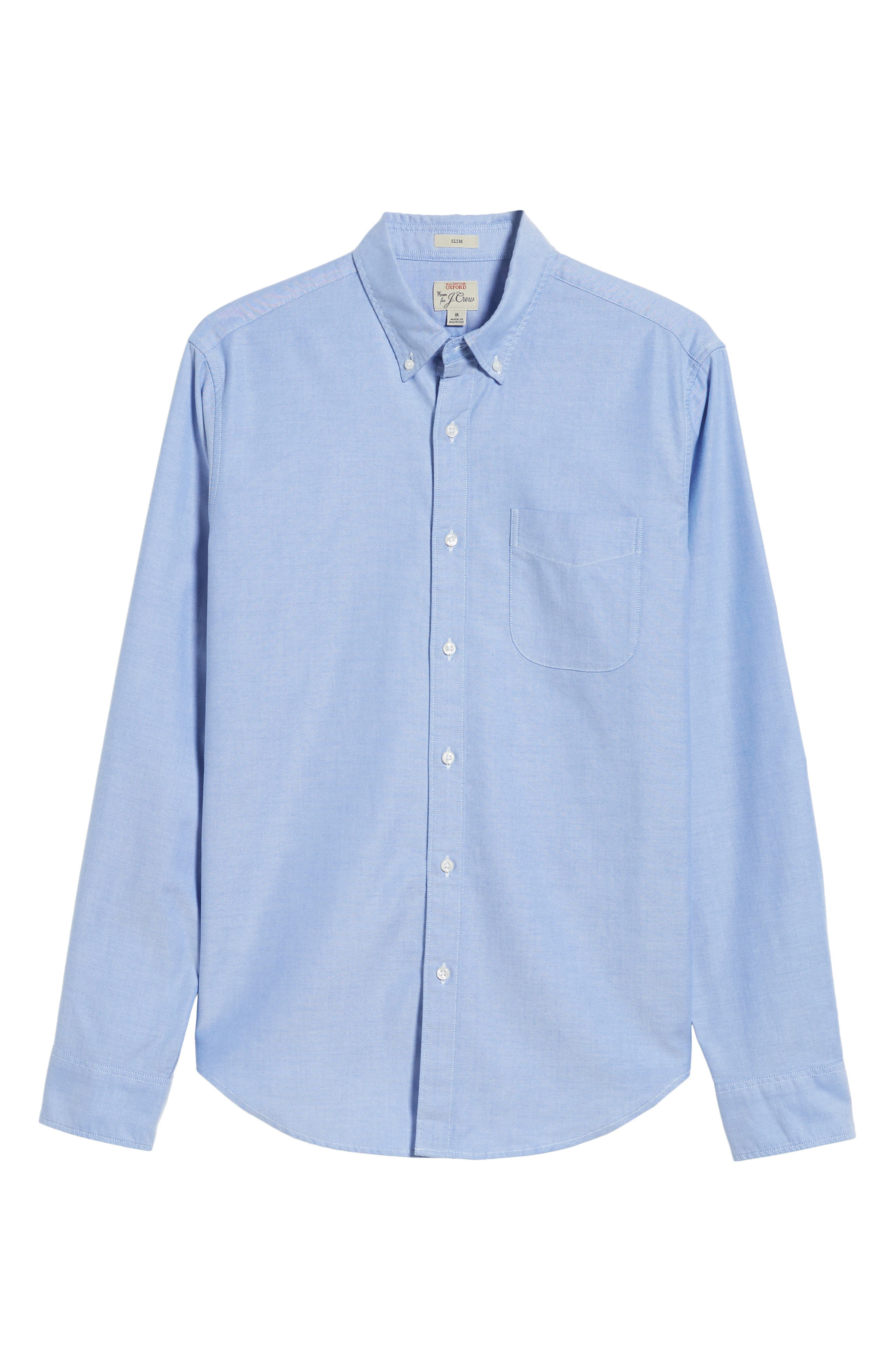Slim Fit Stretch Pima Cotton Oxford Shirt,                             Alternate thumbnail 26, color,