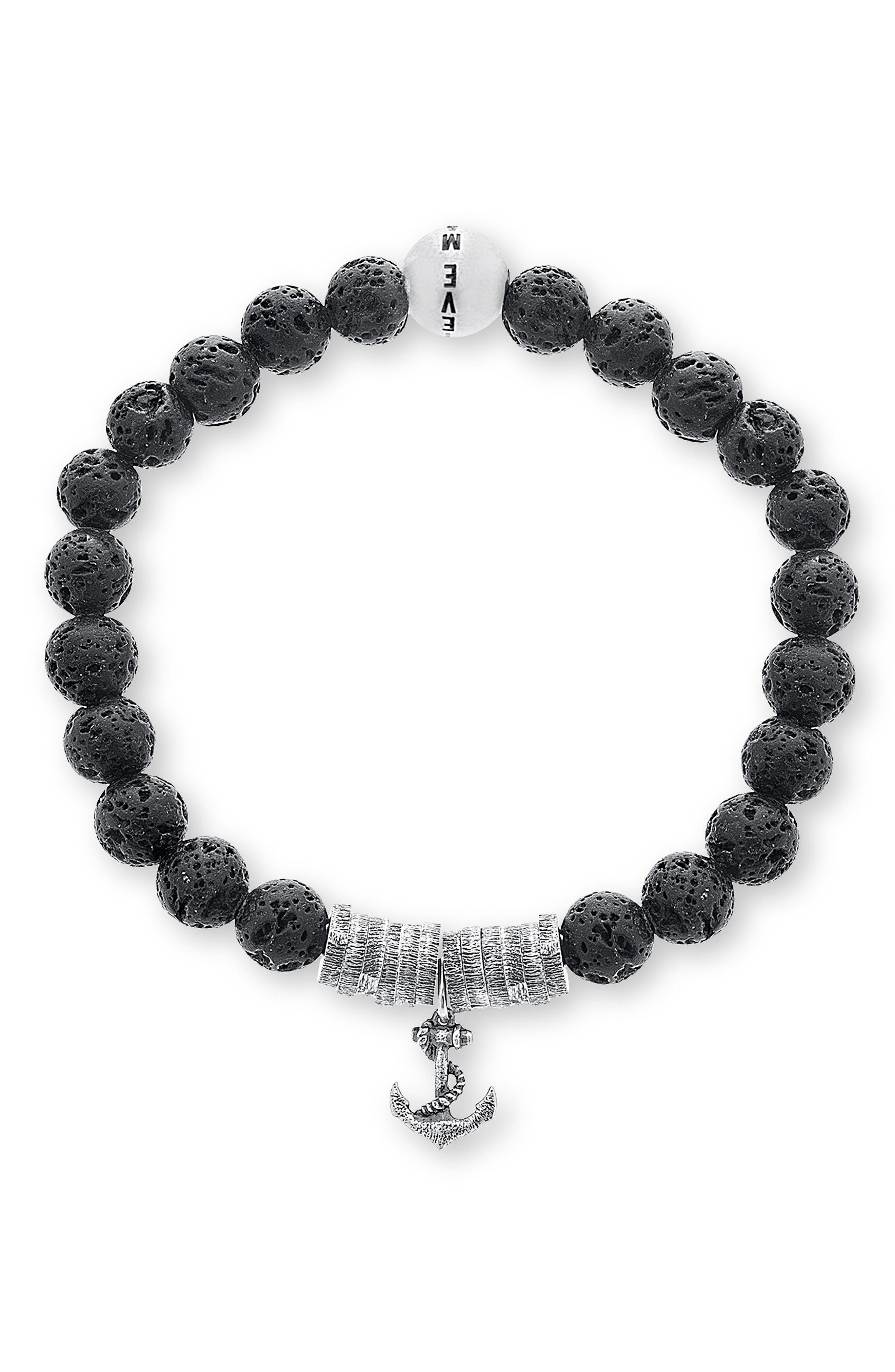 Anchor Charm Bracelet,                         Main,                         color, 001