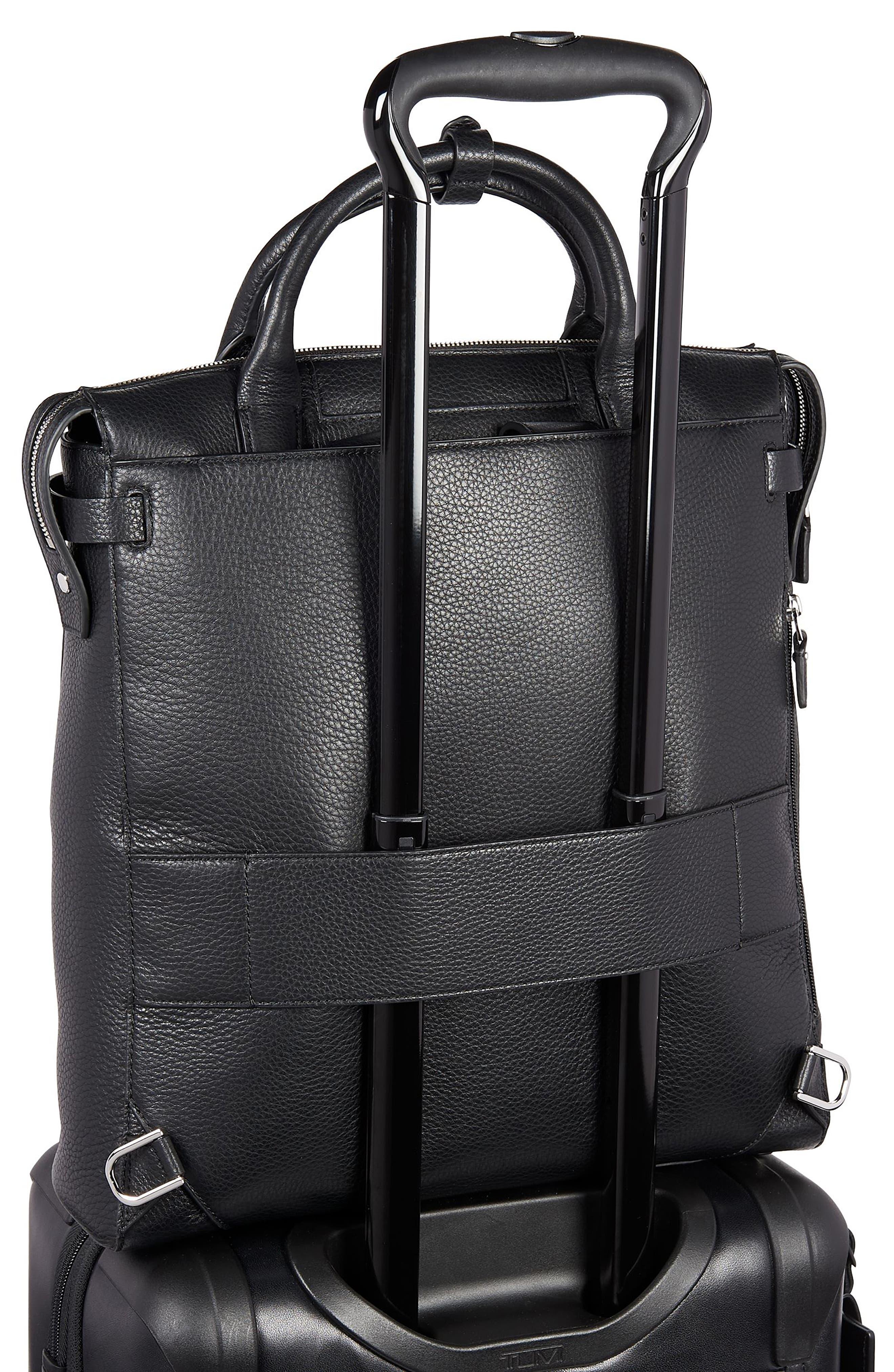 Stanton Stanton Safra Convertible Laptop Backpack/Tote,                             Alternate thumbnail 6, color,                             BLACK