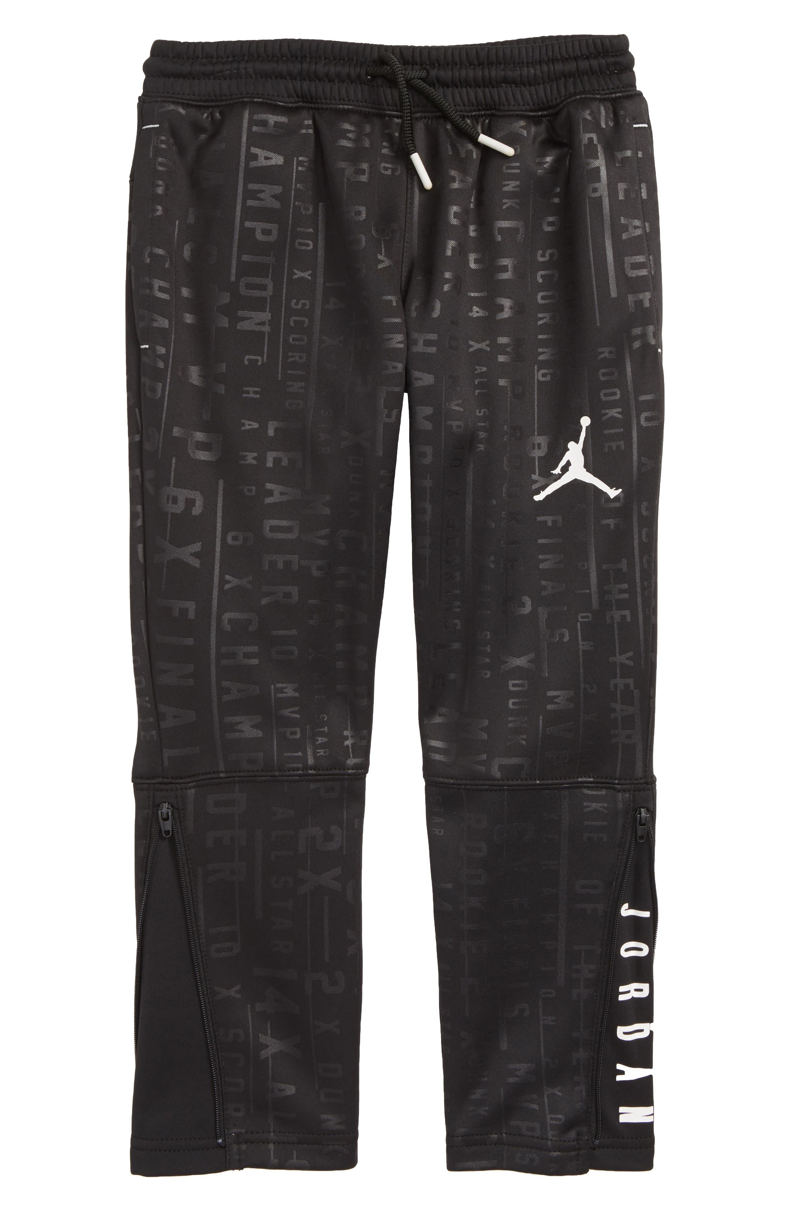 Jordan 23 Tech Accolades Pants,                             Main thumbnail 1, color,                             BLACK/ WHITE