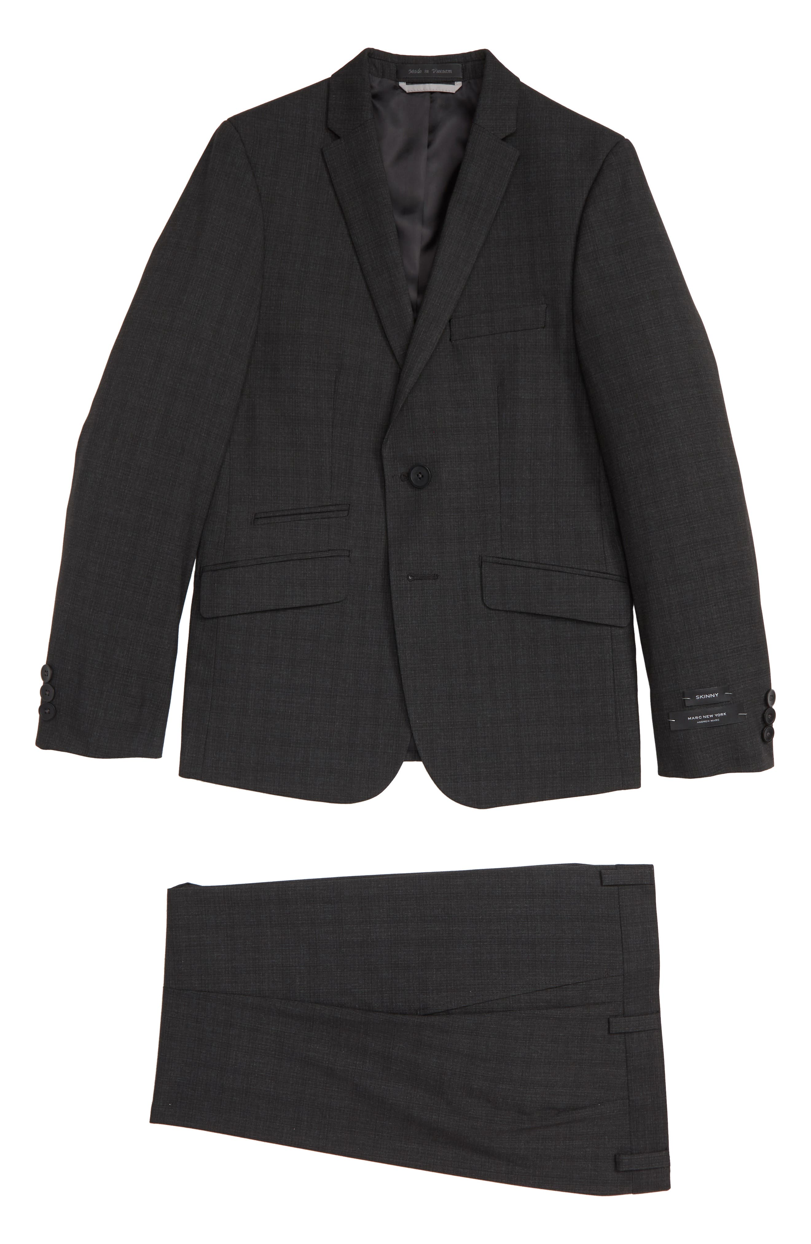 Check Suit,                         Main,                         color, CHARCOAL/ BLACK