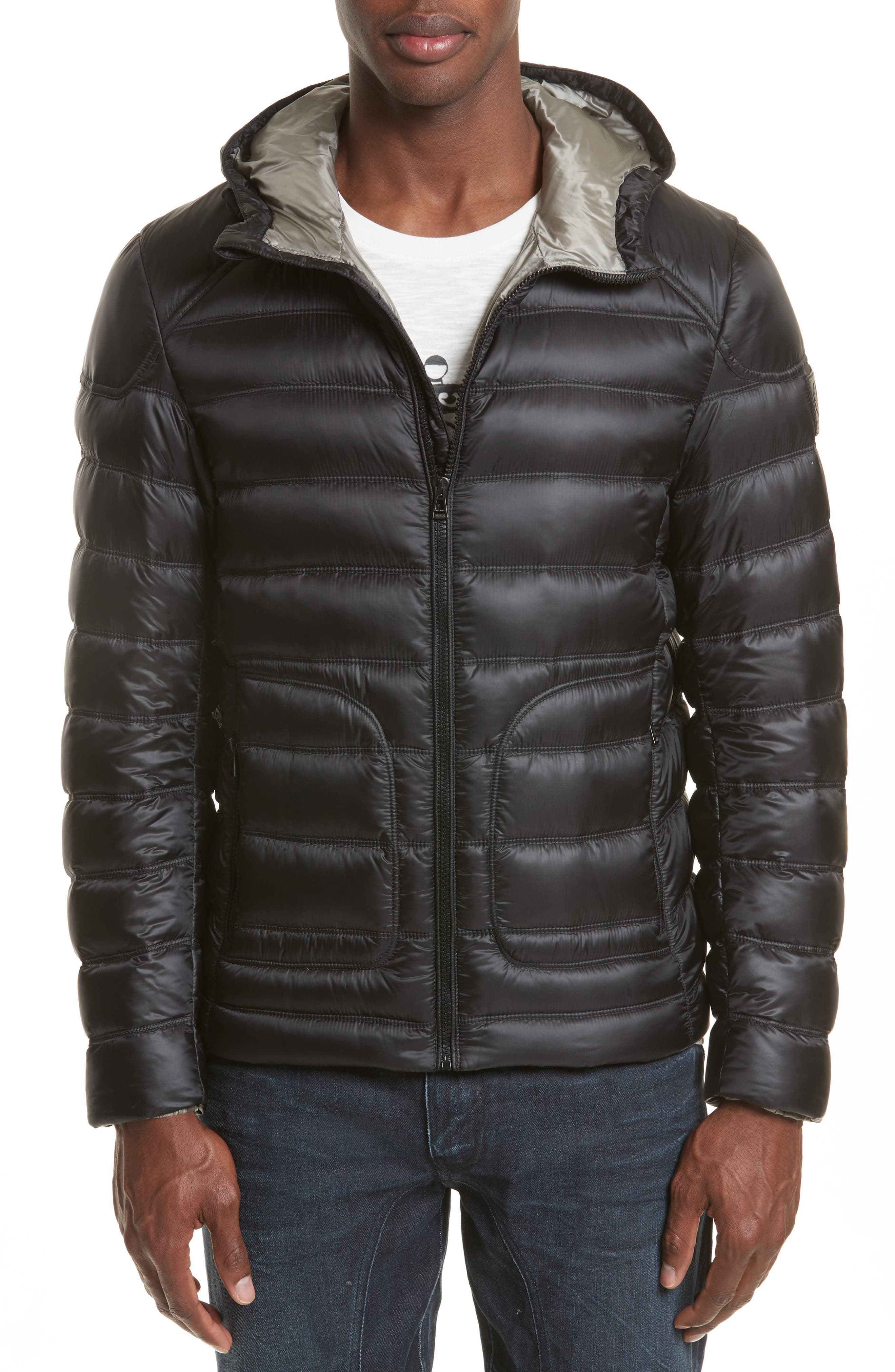BELSTAFF Fullarton Hooded Down Jacket, Main, color, 001