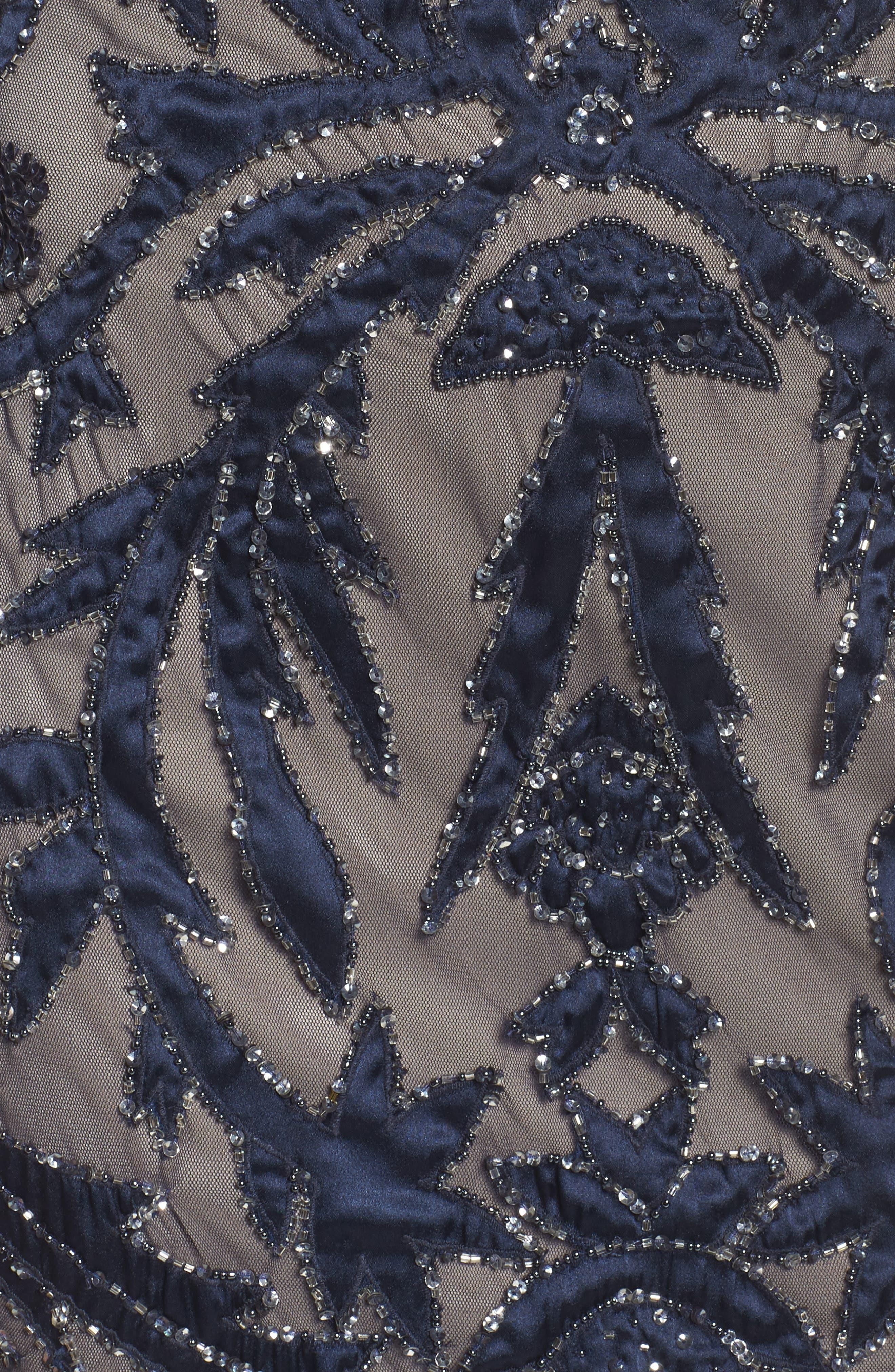 Embellished Column Gown,                             Alternate thumbnail 5, color,                             411