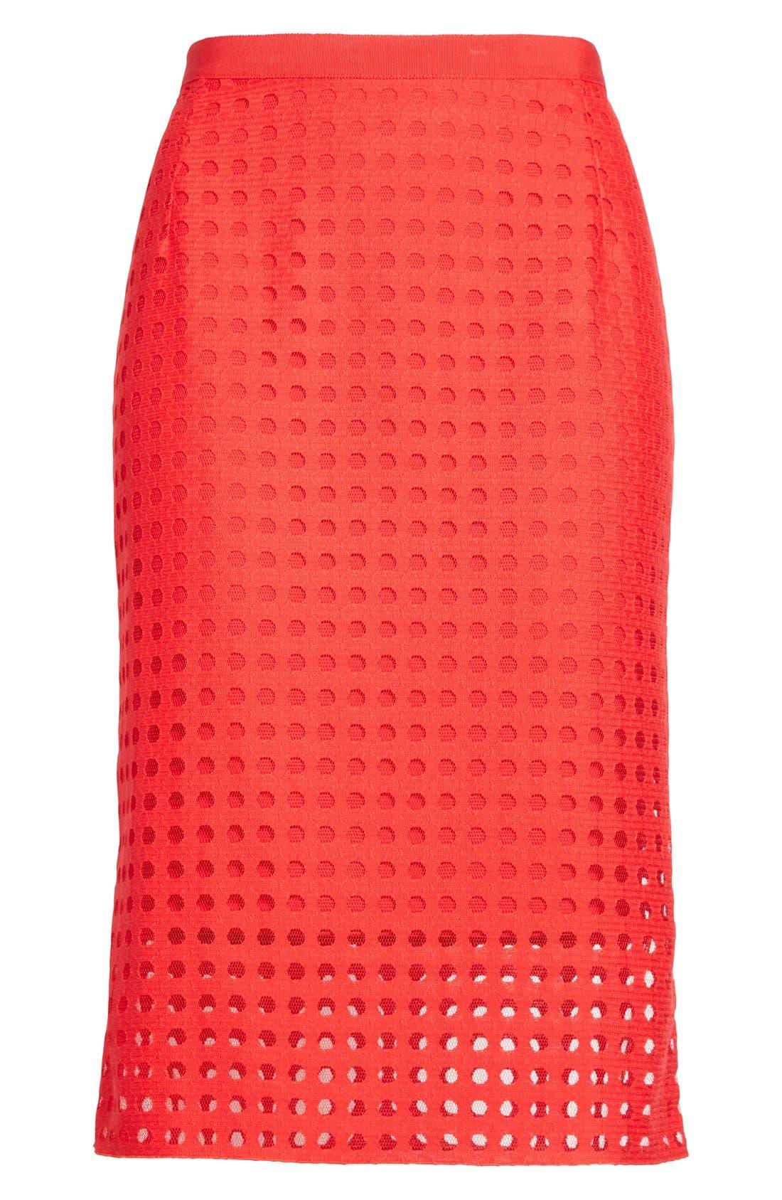 Mesh Pencil Skirt,                             Alternate thumbnail 5, color,                             600