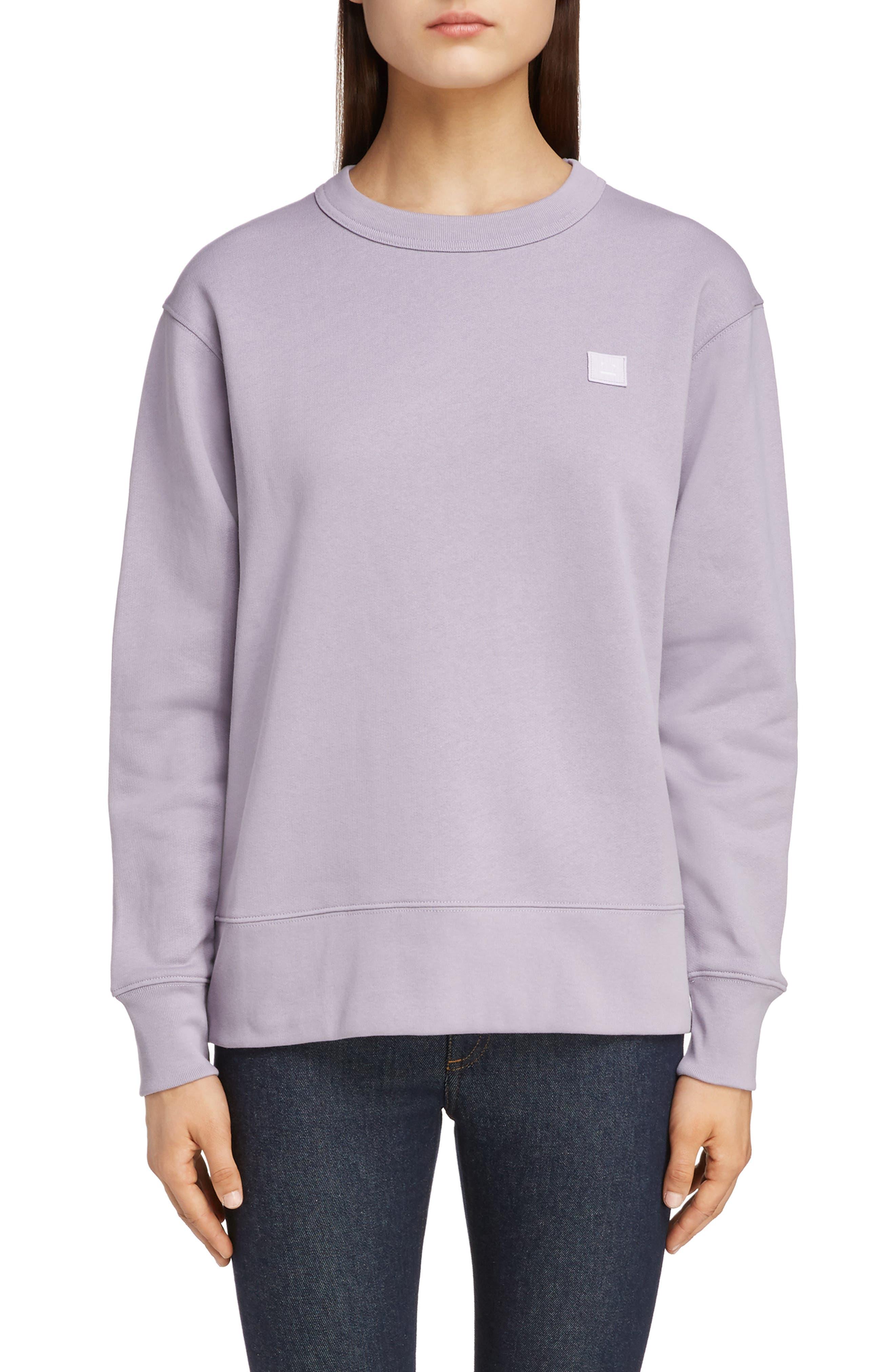 Fairview Face Sweatshirt, Main, color, MAUVE PURPLE
