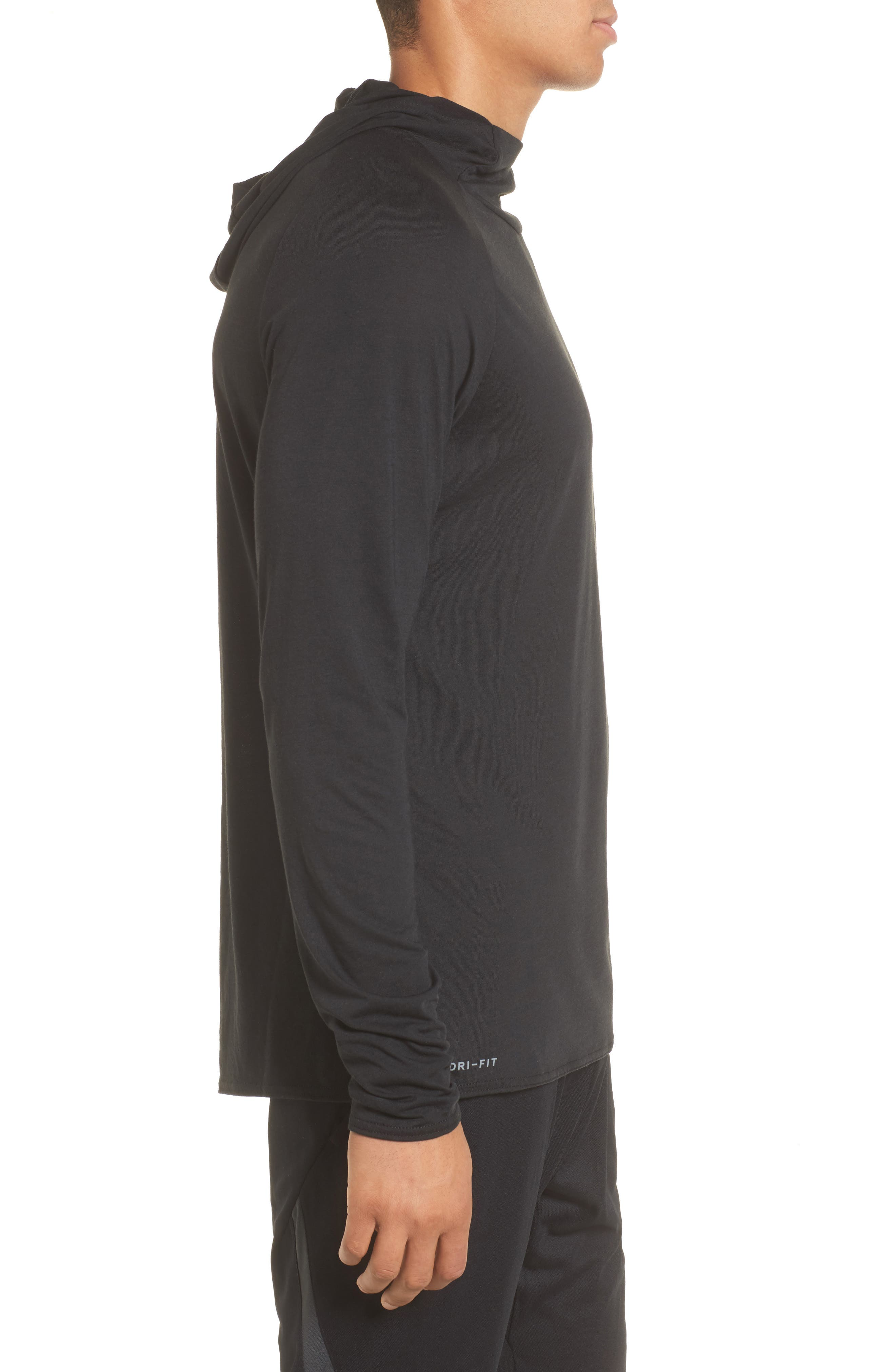 Nike Dry 23 Alpha Hooded Shirt,                             Alternate thumbnail 3, color,                             010