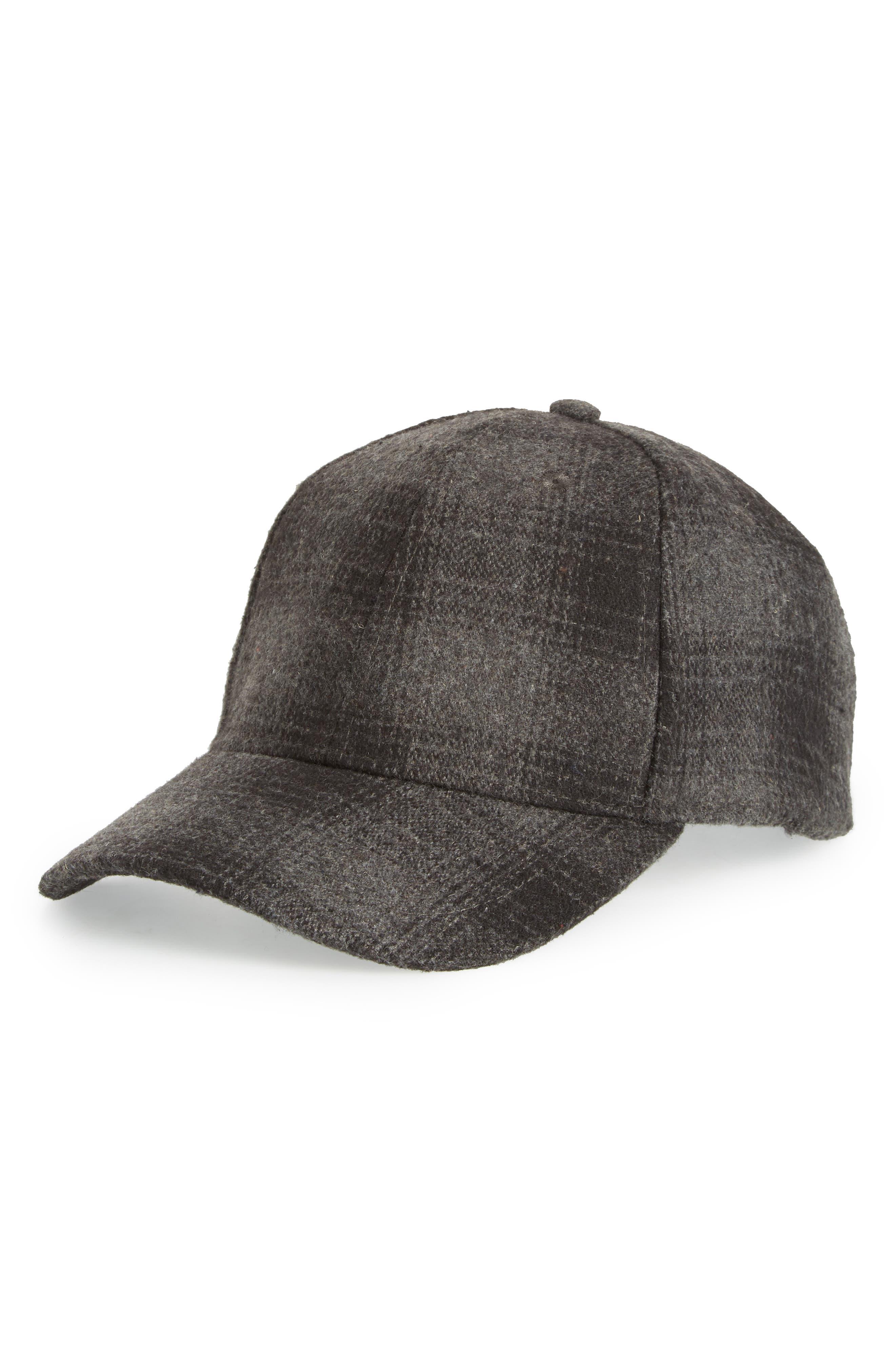 Buffalo Check Baseball Cap,                         Main,                         color, GREY ASPHALT