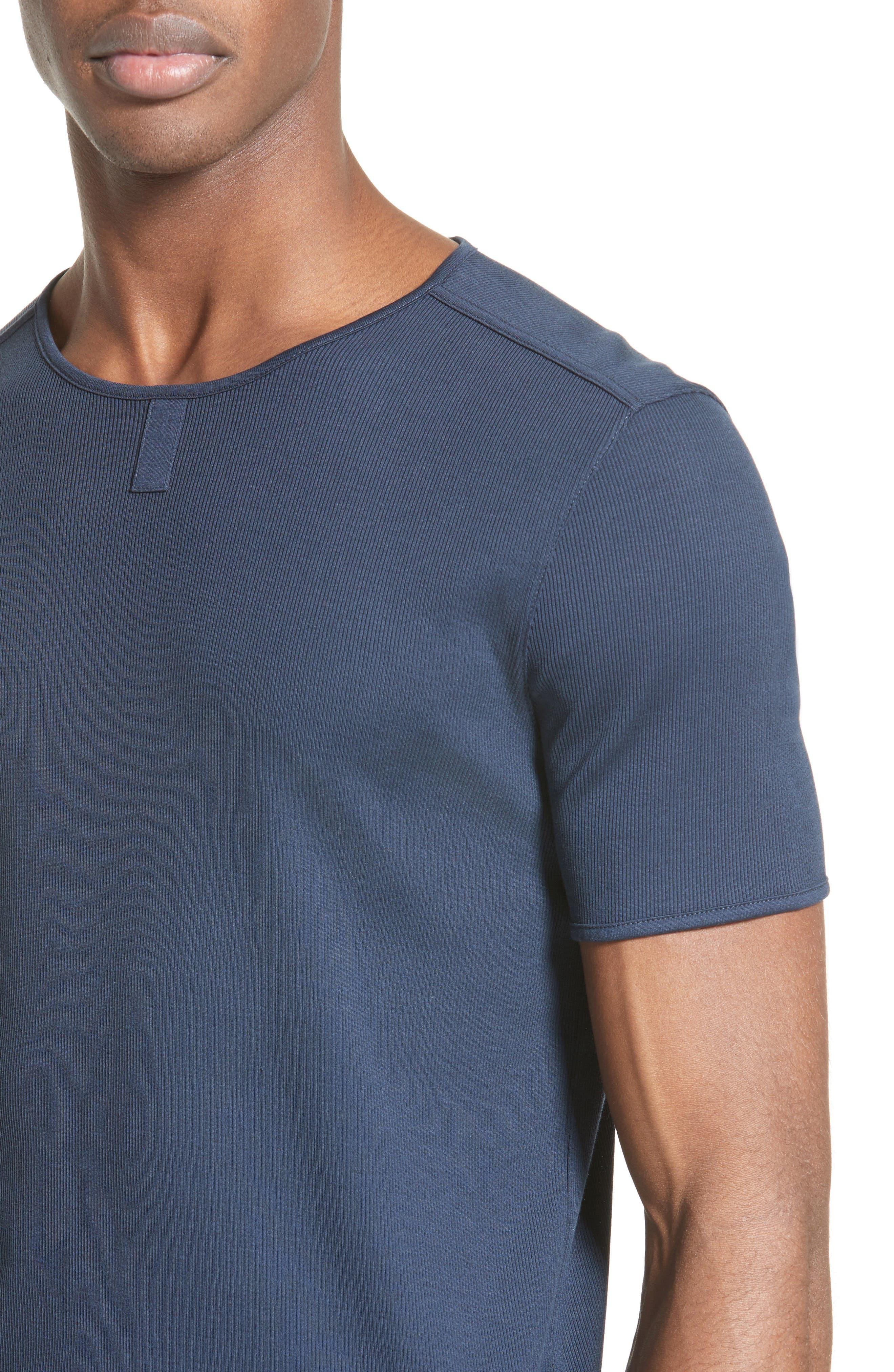 Ribbed Crewneck T-Shirt,                             Alternate thumbnail 5, color,                             405