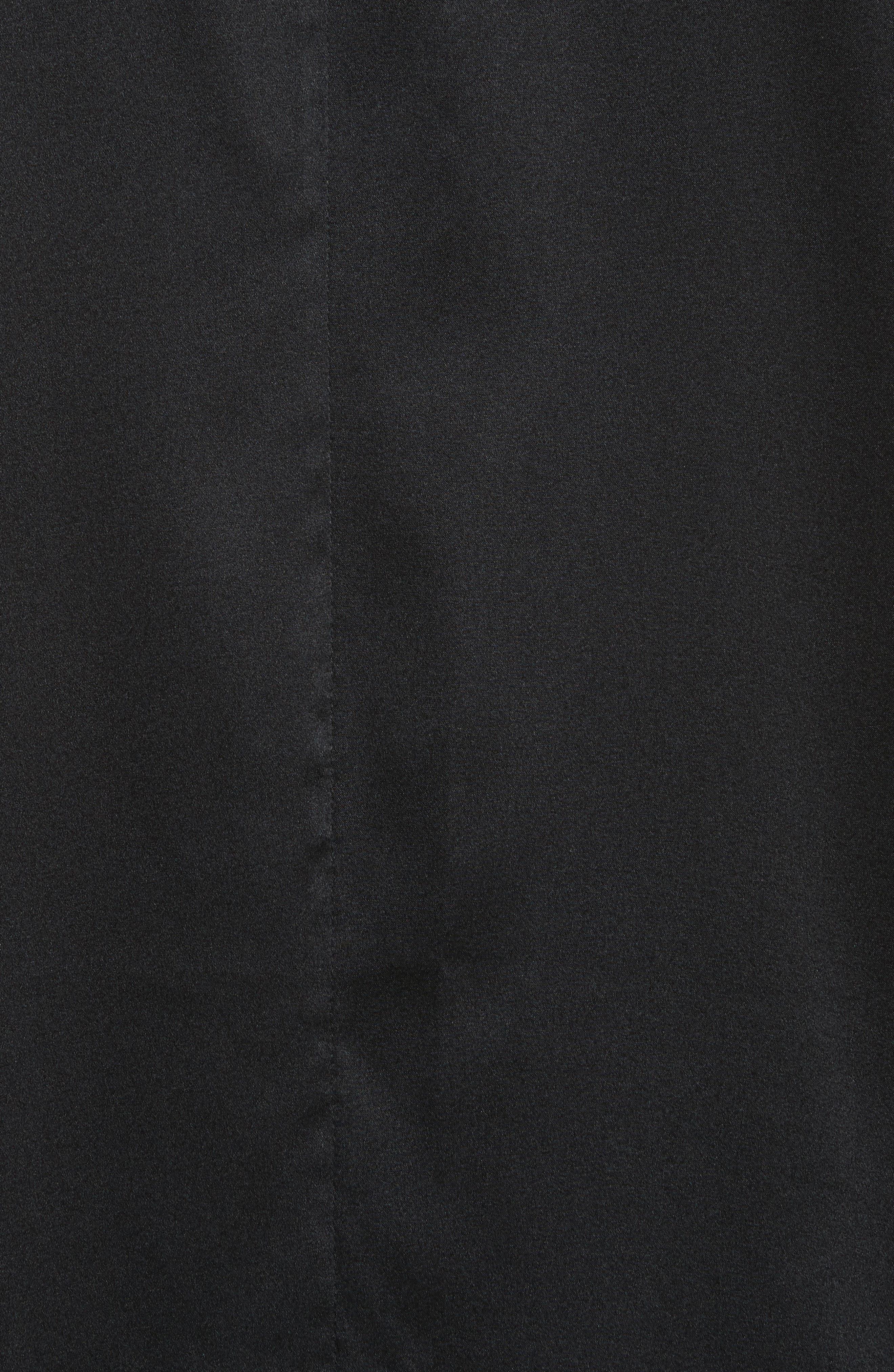 Bow Print Silk Blend Dress,                             Alternate thumbnail 5, color,                             001