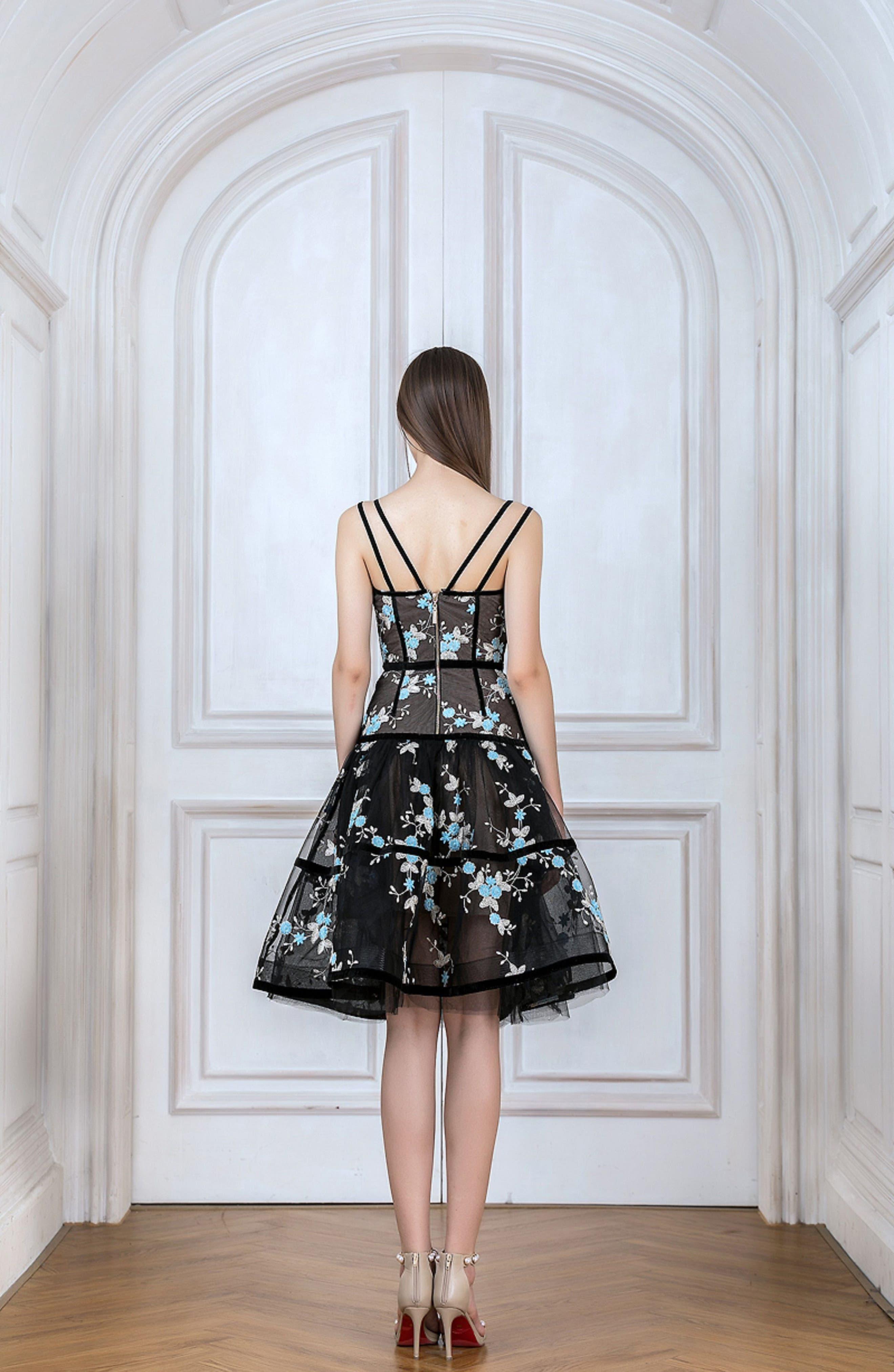 Marietta Fit & Flare Dress,                             Alternate thumbnail 7, color,