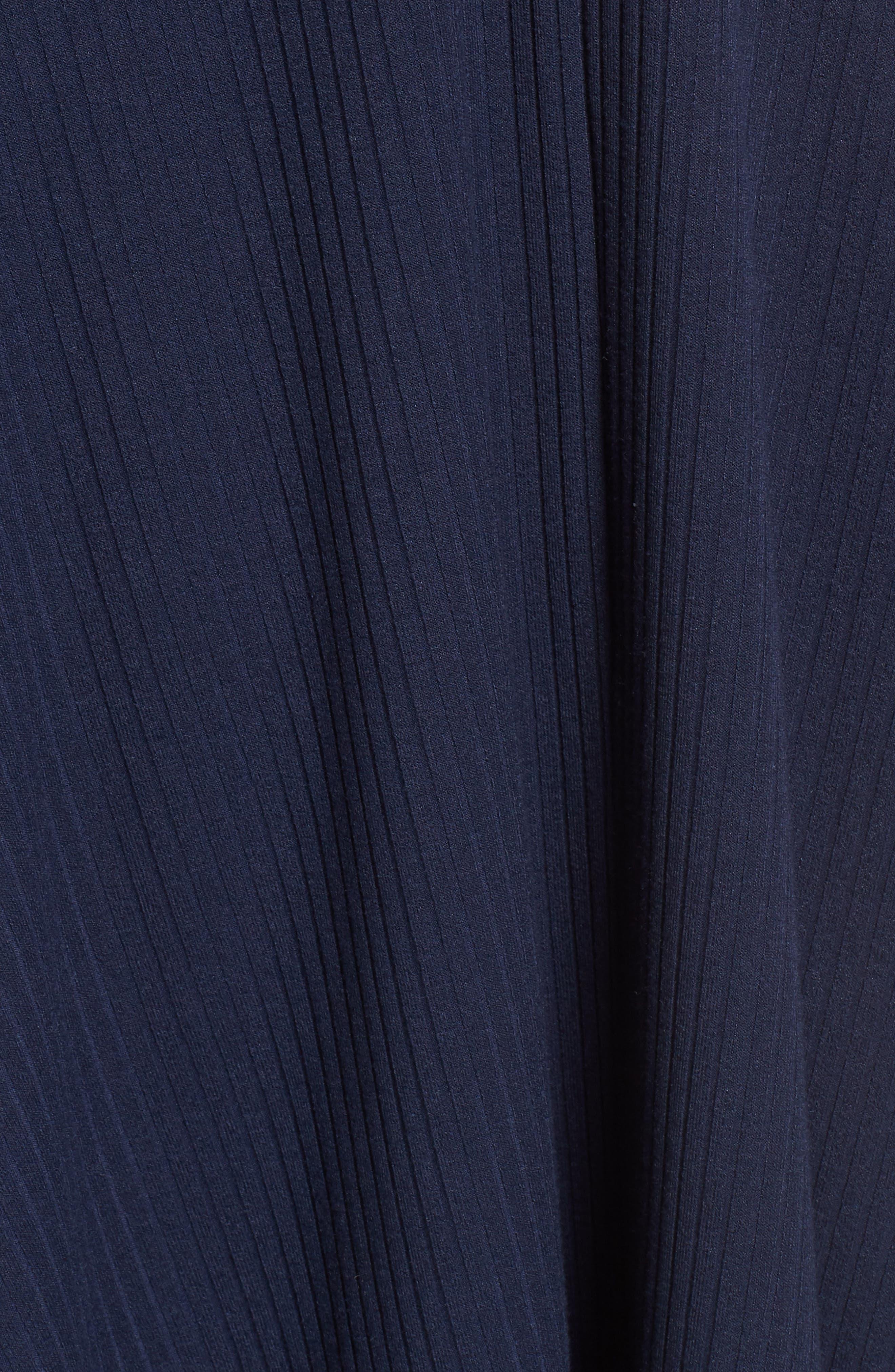 Fawn Lace-Up Midi Dress,                             Alternate thumbnail 5, color,                             400