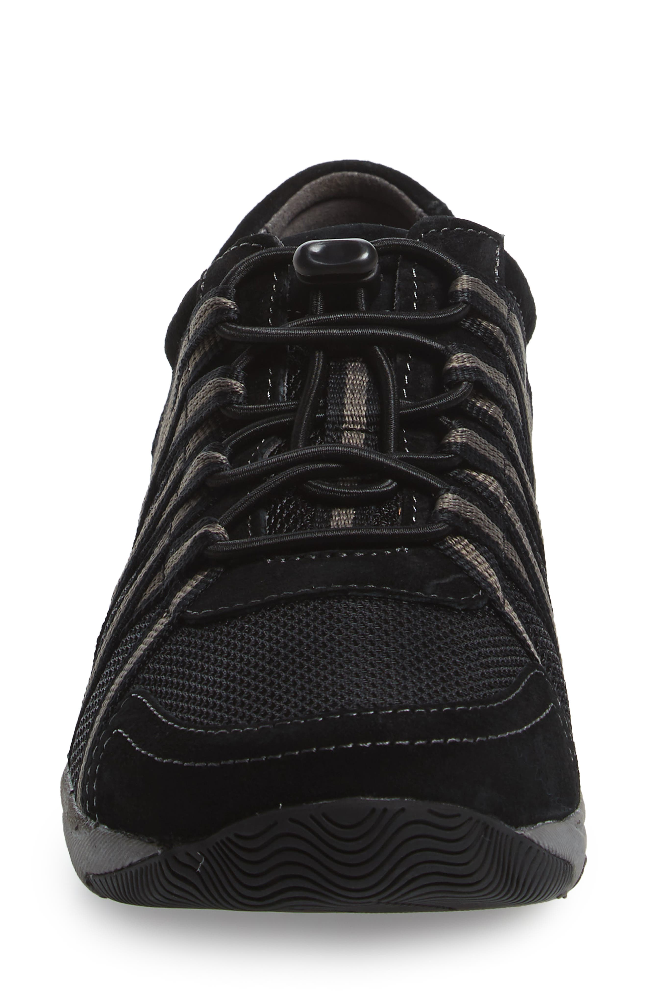 Halifax Collection Honor Sneaker,                             Alternate thumbnail 4, color,                             BLACK/ BLACK SUEDE