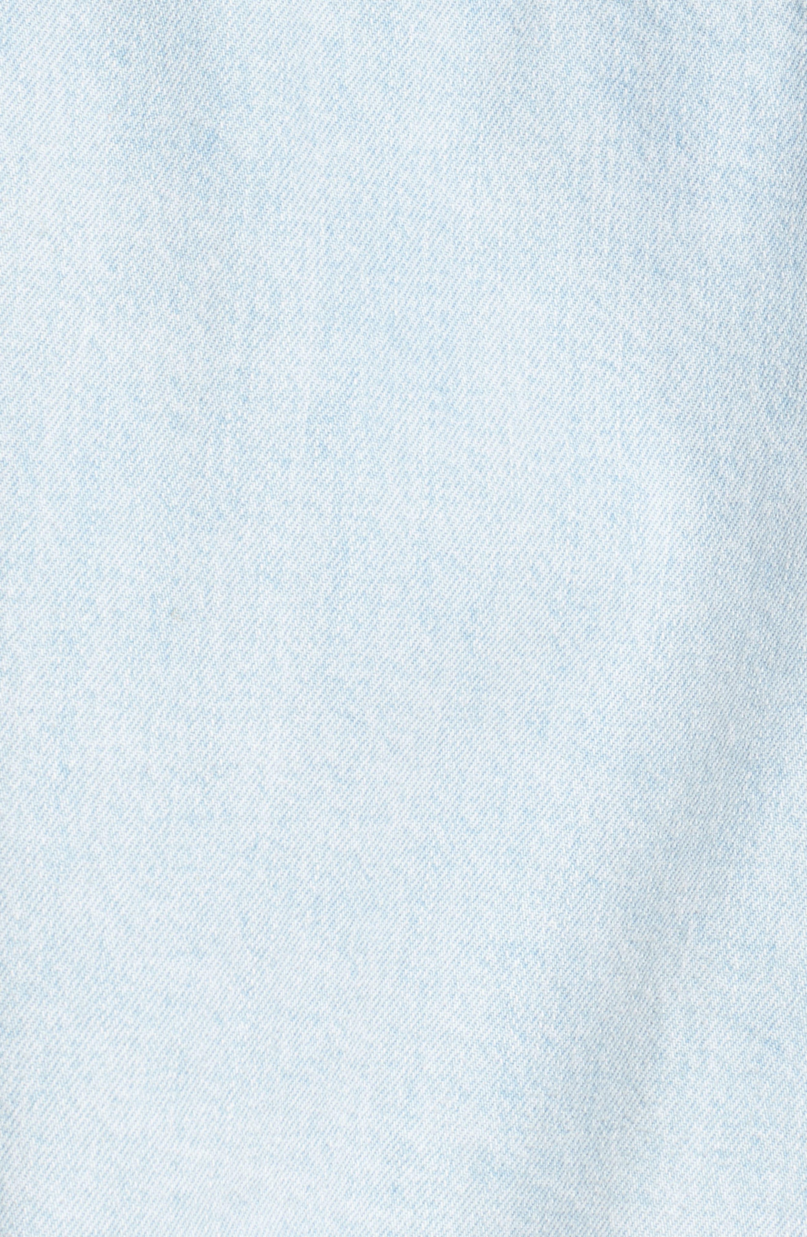 Bleached Cutoff Denim Jacket,                             Alternate thumbnail 6, color,                             420