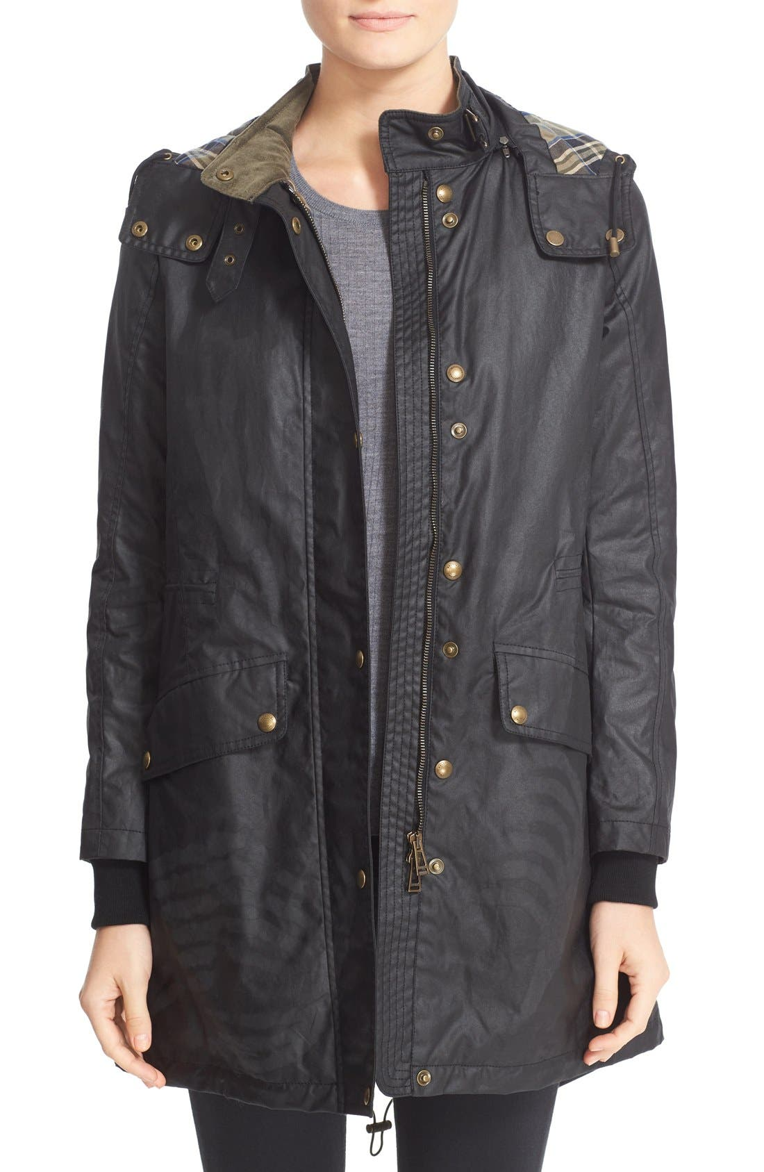 Wembury Waxed Cotton Jacket,                             Main thumbnail 1, color,                             001
