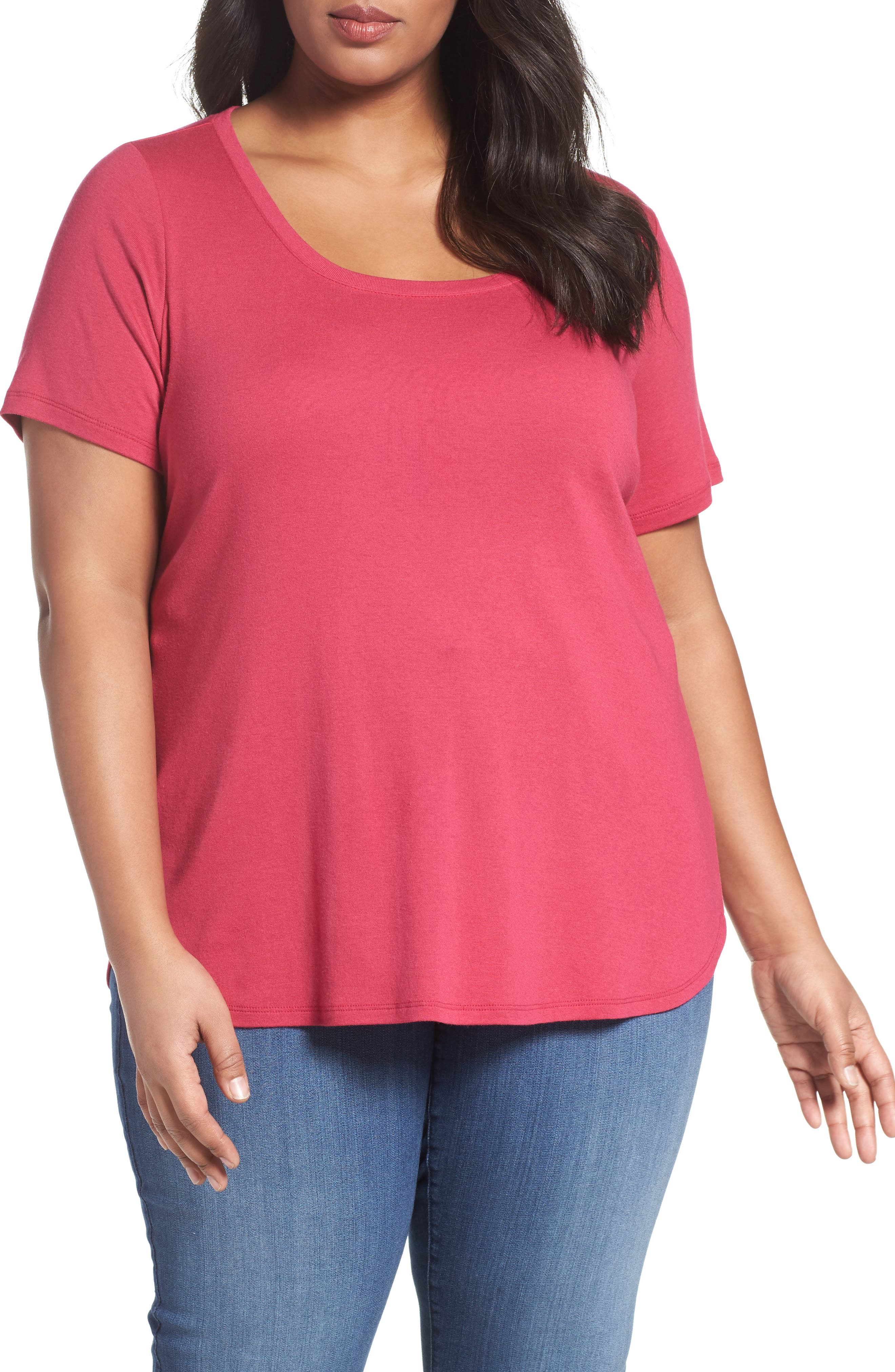 Scoop Neck Tee,                             Main thumbnail 12, color,