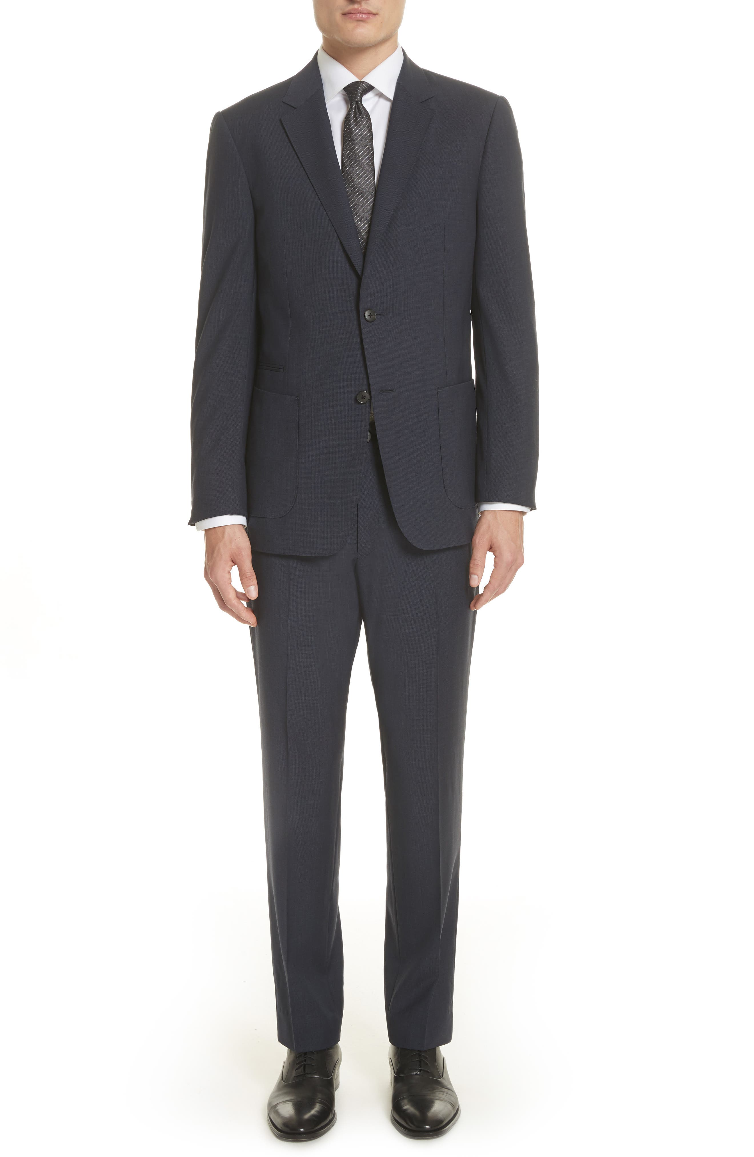 TECHMERINO<sup>™</sup> Wash & Go Trim Fit Solid Wool Suit,                             Alternate thumbnail 8, color,                             412