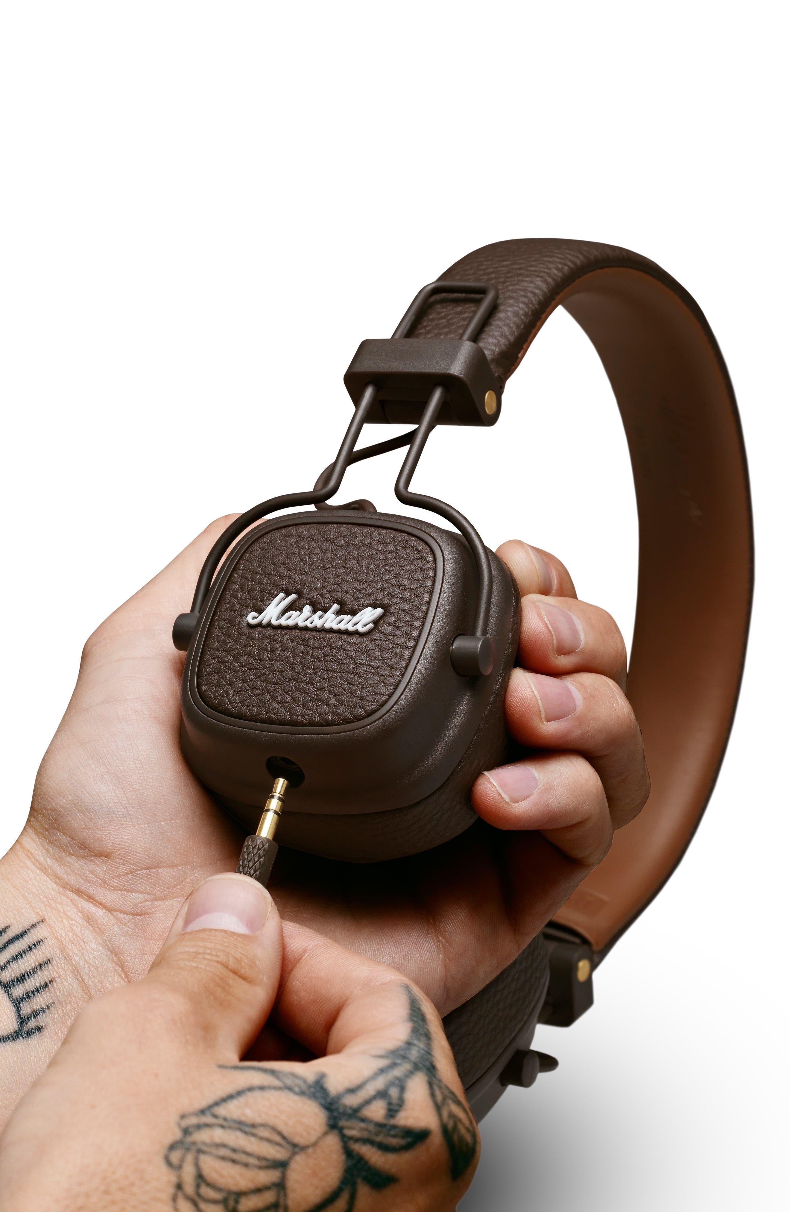 Major III Wired Headphones,                             Alternate thumbnail 4, color,                             BROWN