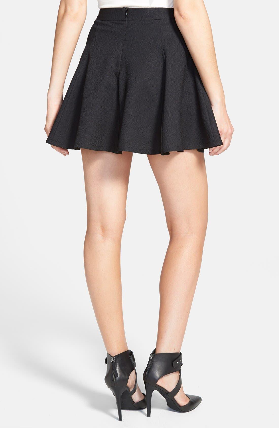Lush Skater Skirt,                             Alternate thumbnail 3, color,                             001