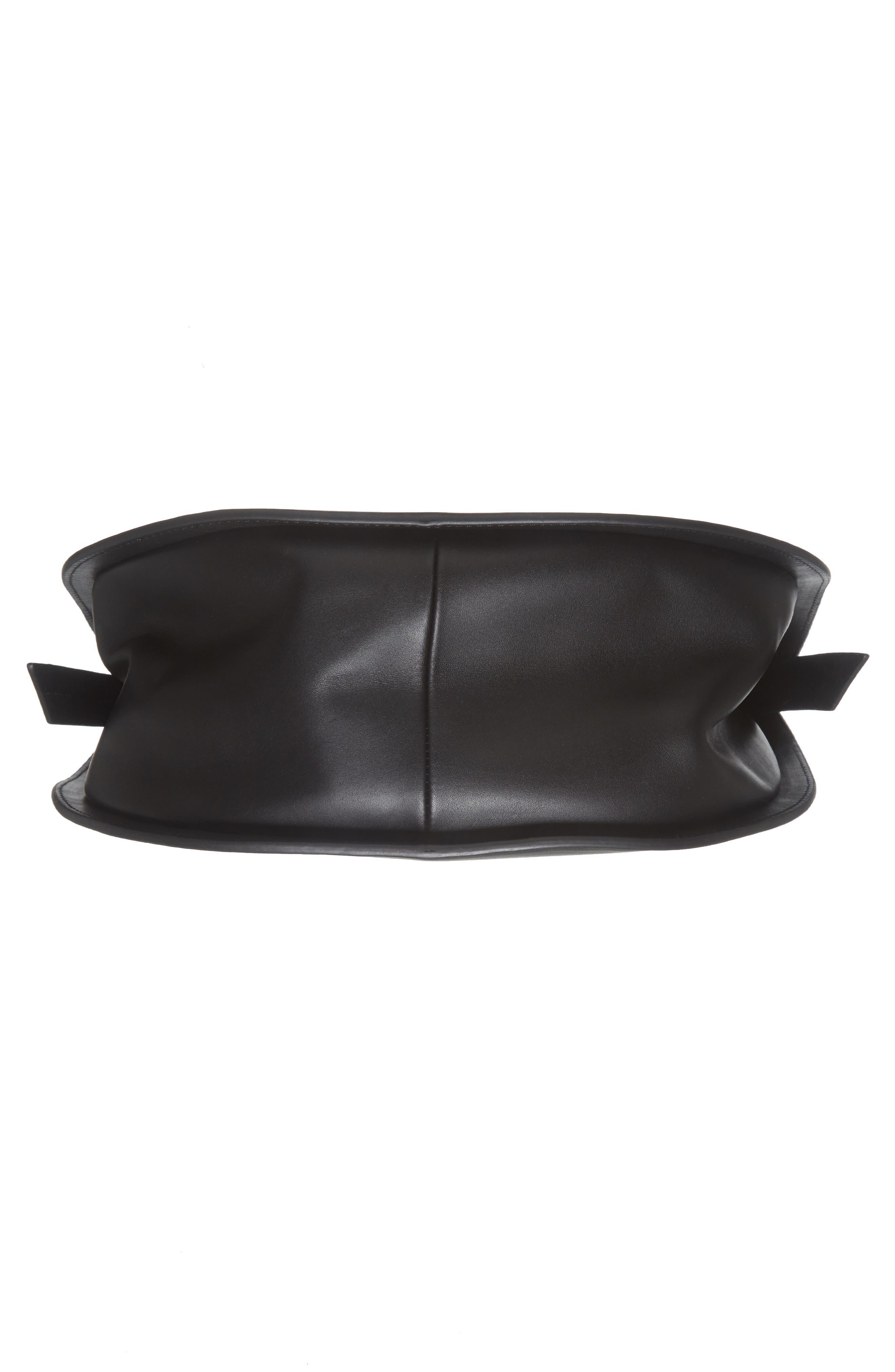 Helena Half Moon Leather Shoulder Bag,                             Alternate thumbnail 6, color,                             001