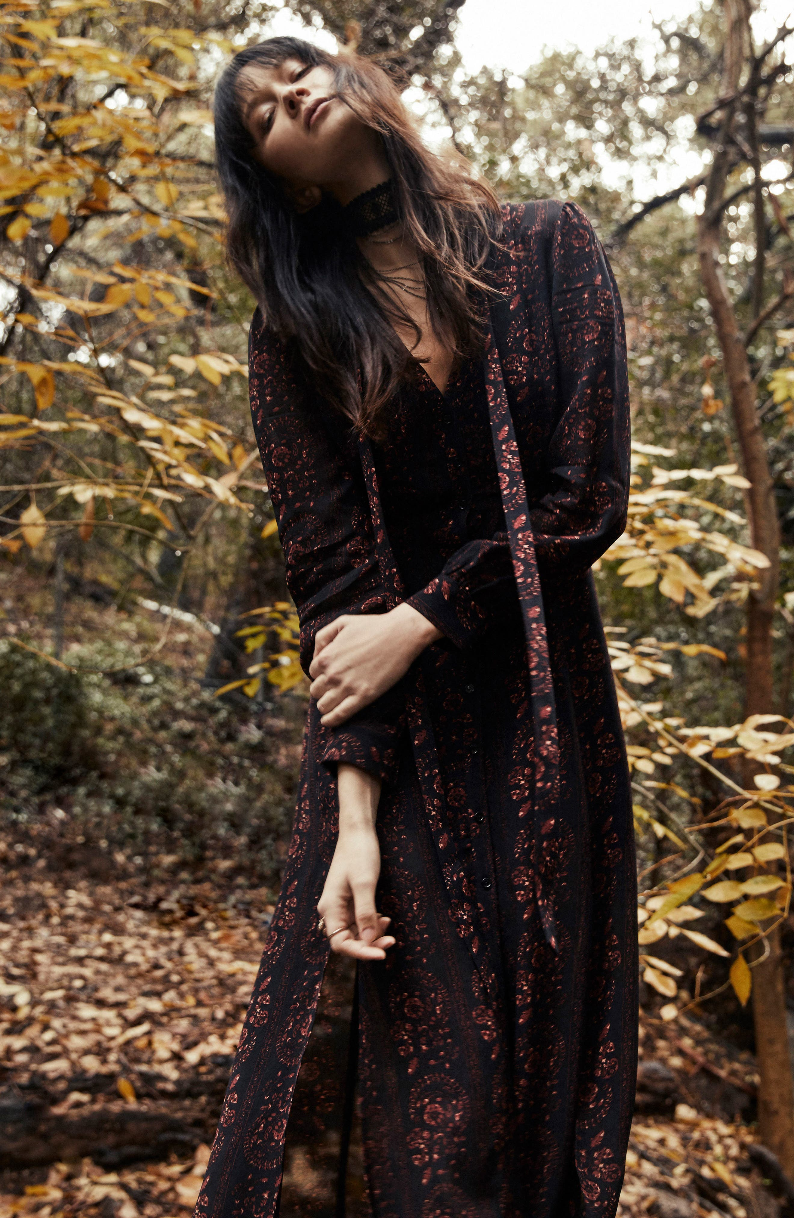 Natalie Midi Dress,                             Alternate thumbnail 7, color,                             004