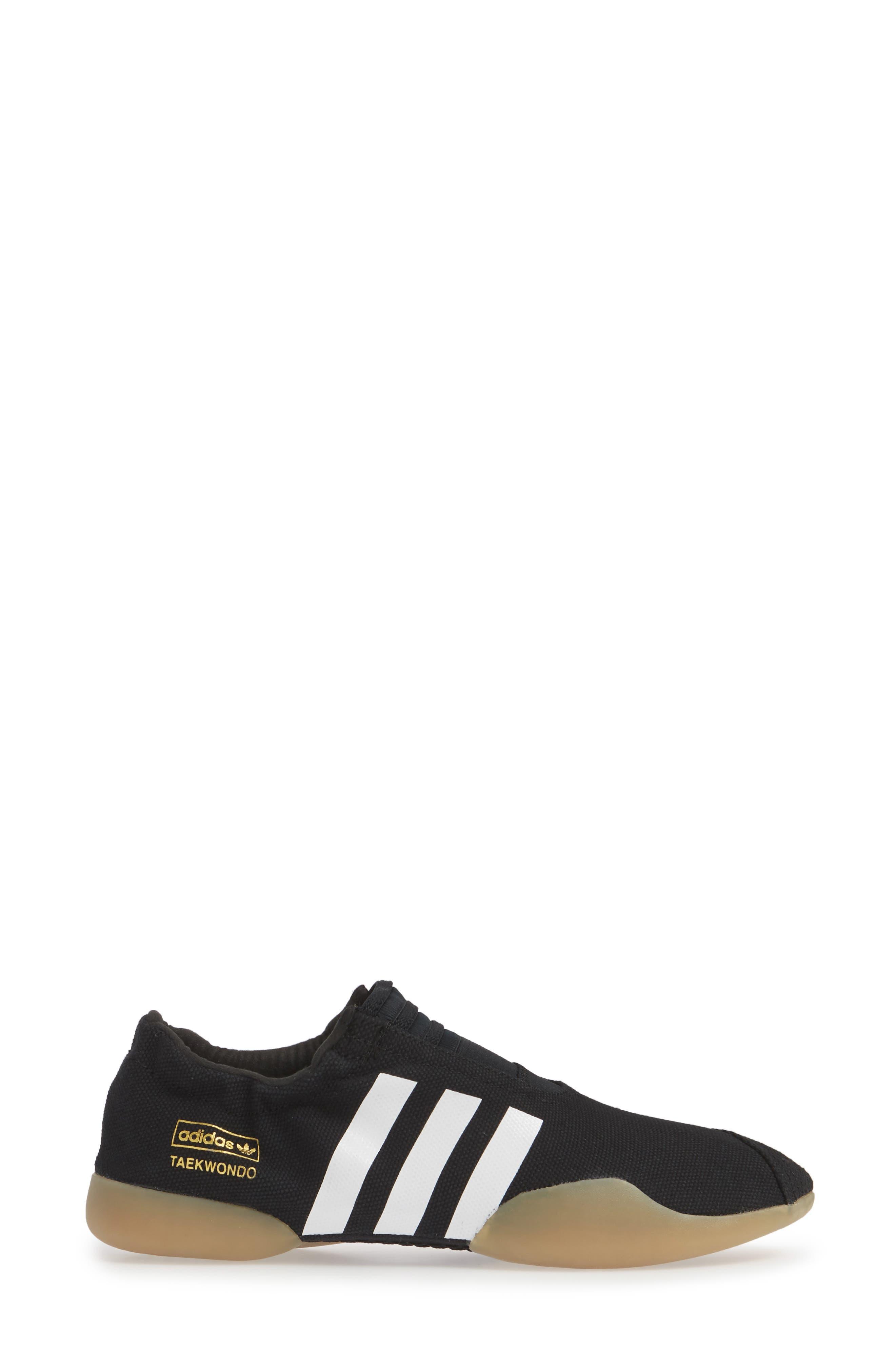 Taekwondo Slip-On Sneaker,                             Alternate thumbnail 3, color,                             CORE BLACK/ WHITE/ GUM 3