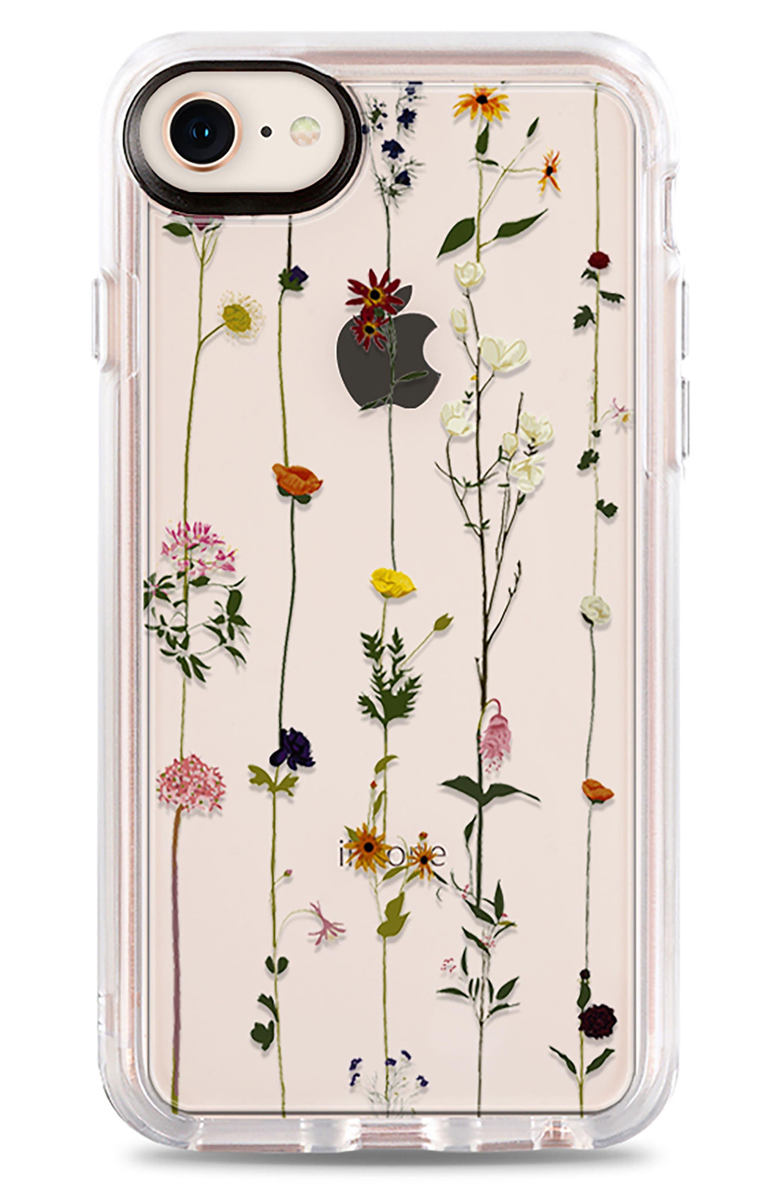 Floral Grip iPhone 7/8 & 7/8 Plus Case,                             Main thumbnail 1, color,                             CLEAR MULTI