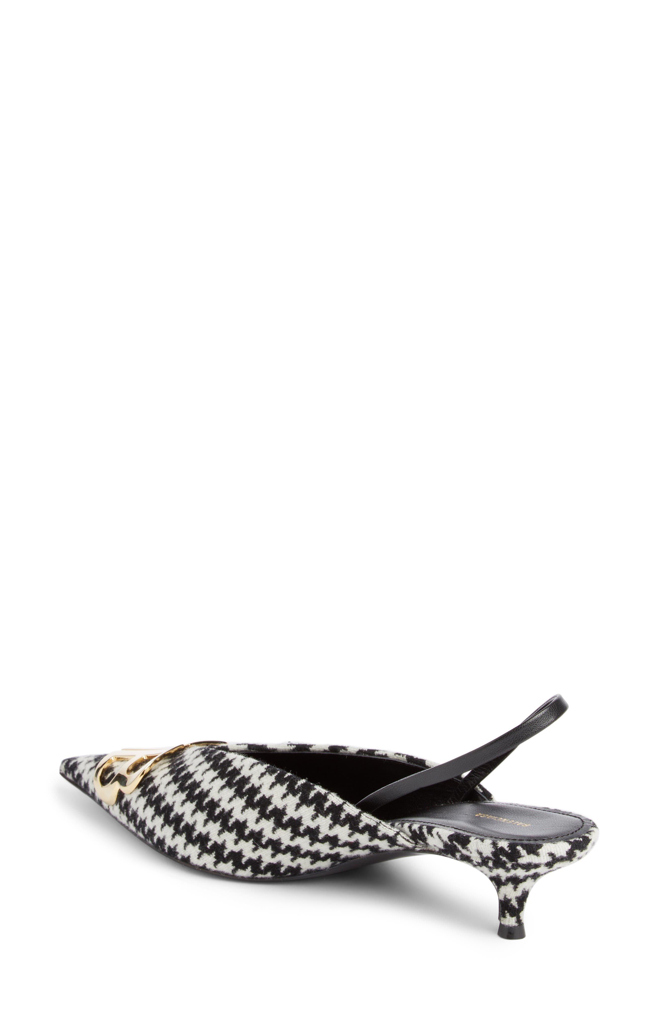 BB Houndstooth Slingback Pump,                             Alternate thumbnail 2, color,                             121