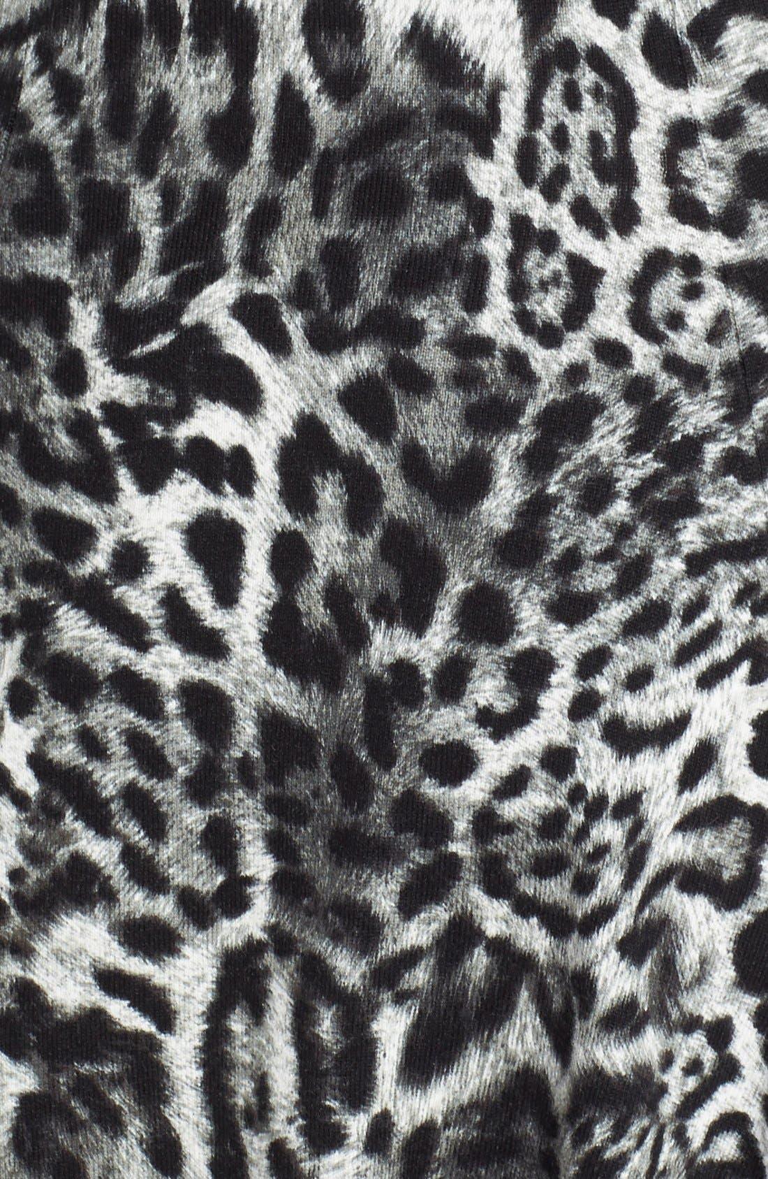'Fremont' Leopard Print Fit & Flare Dress,                             Alternate thumbnail 2, color,                             001