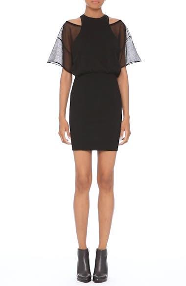 Sheer Popover Knit Dress, video thumbnail