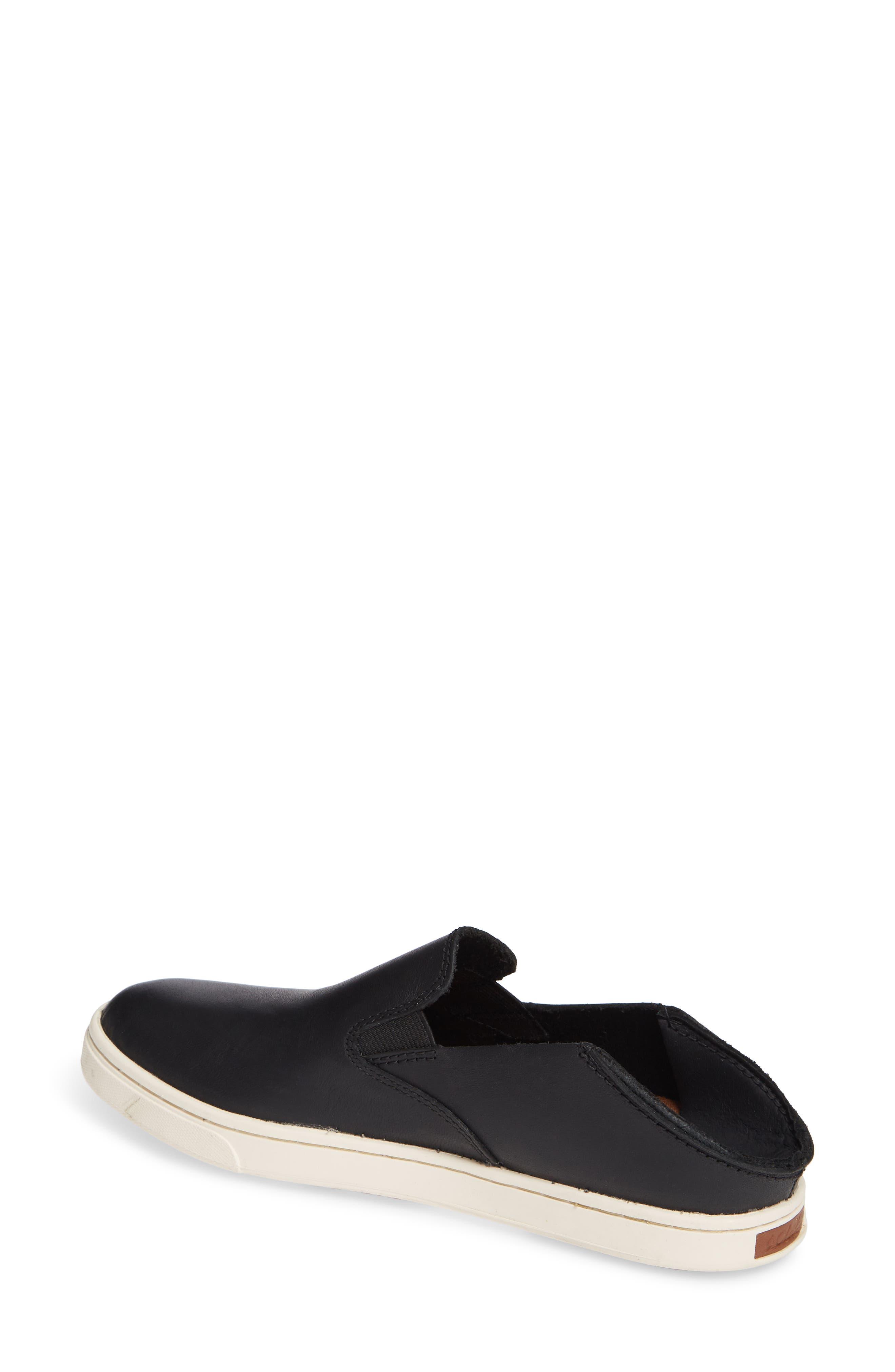 Pehuea Slip-On Sneaker,                             Alternate thumbnail 3, color,                             BLACK/ BLACK LEATHER