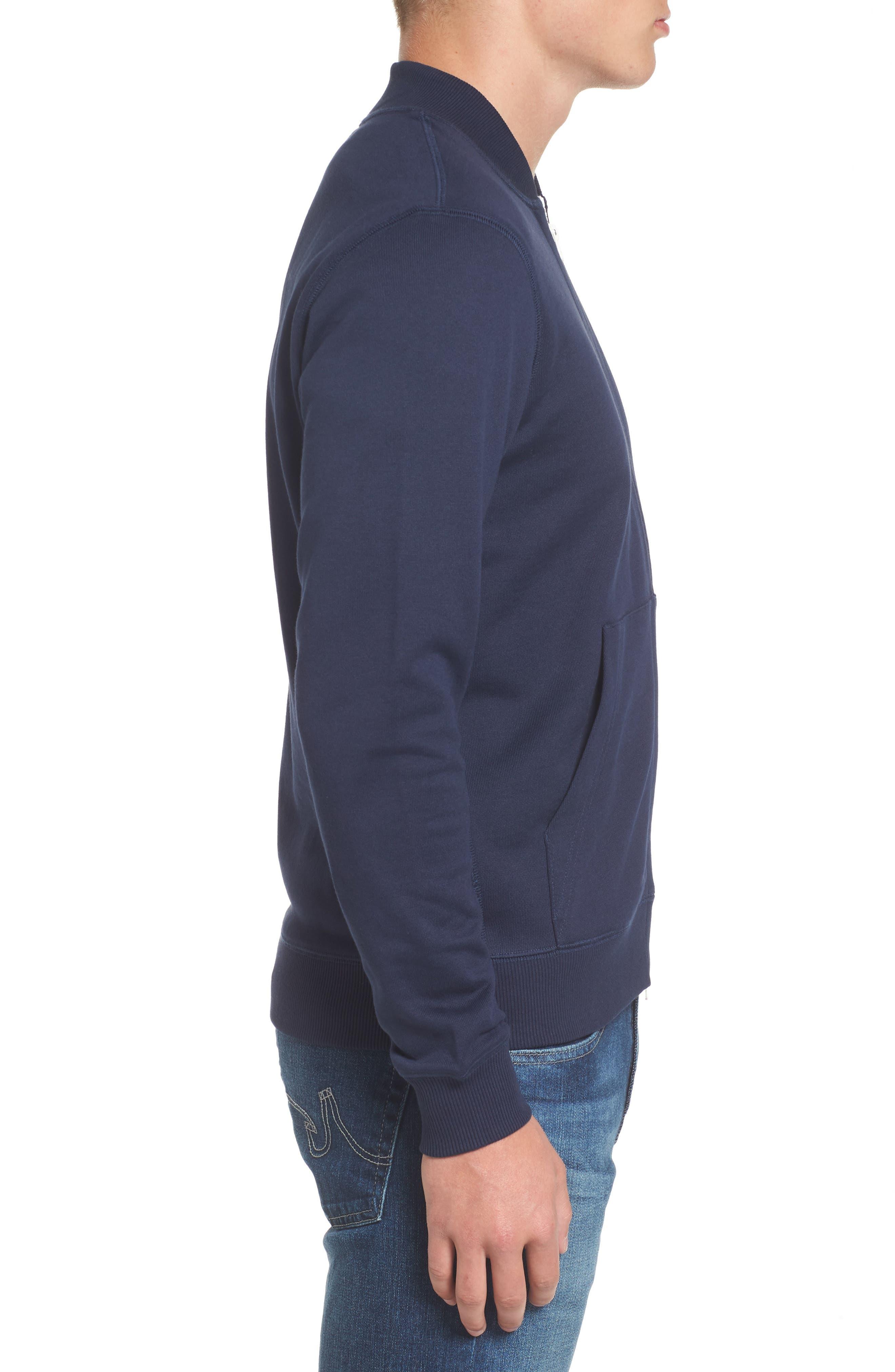 Banana Collar Zip Jacket,                             Alternate thumbnail 8, color,