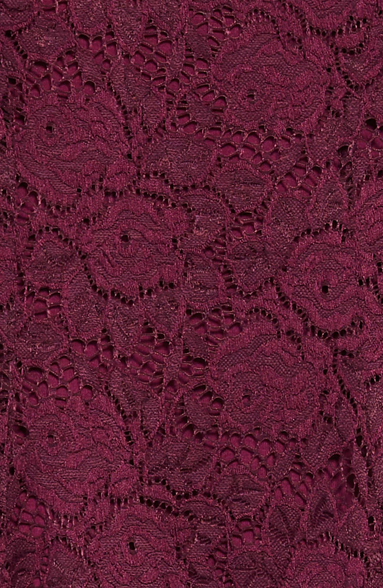 Lace Skater Dress,                             Alternate thumbnail 3, color,                             PLUM