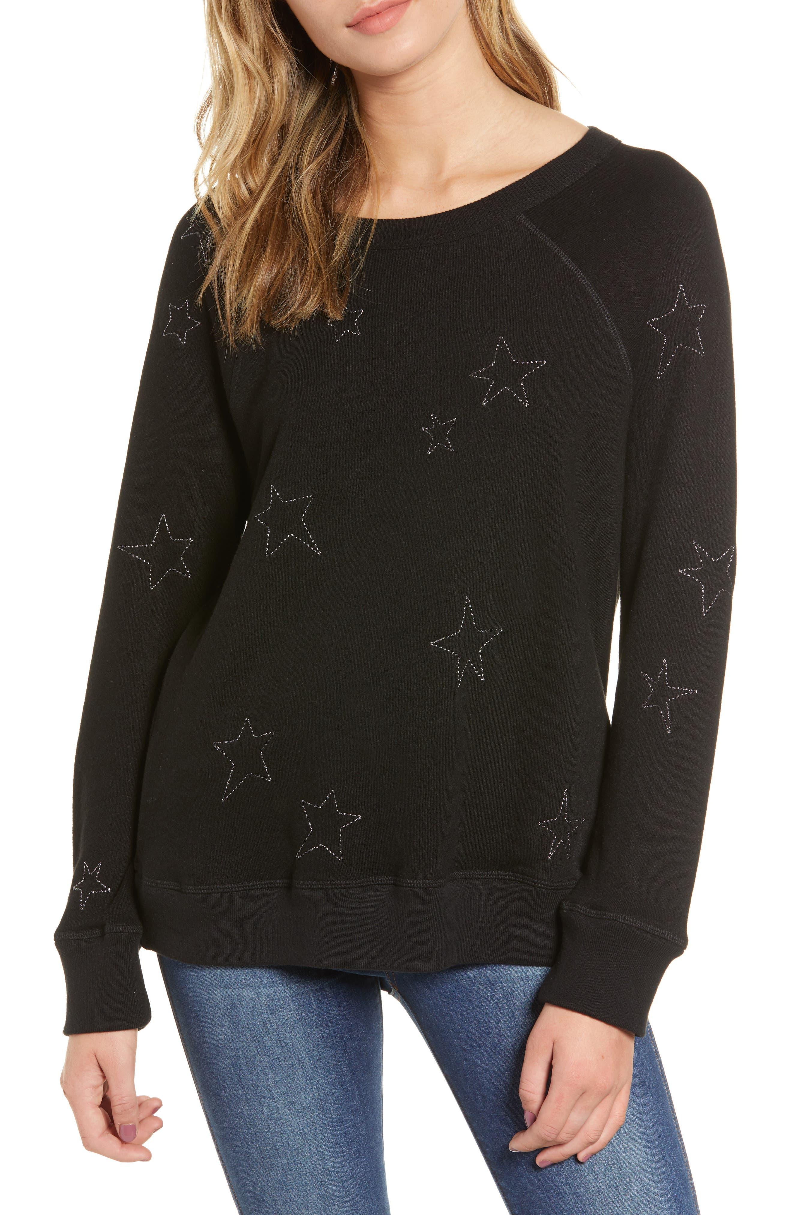 N:PHILANTHROPY Montreal Sweatshirt in Black Cat Stars