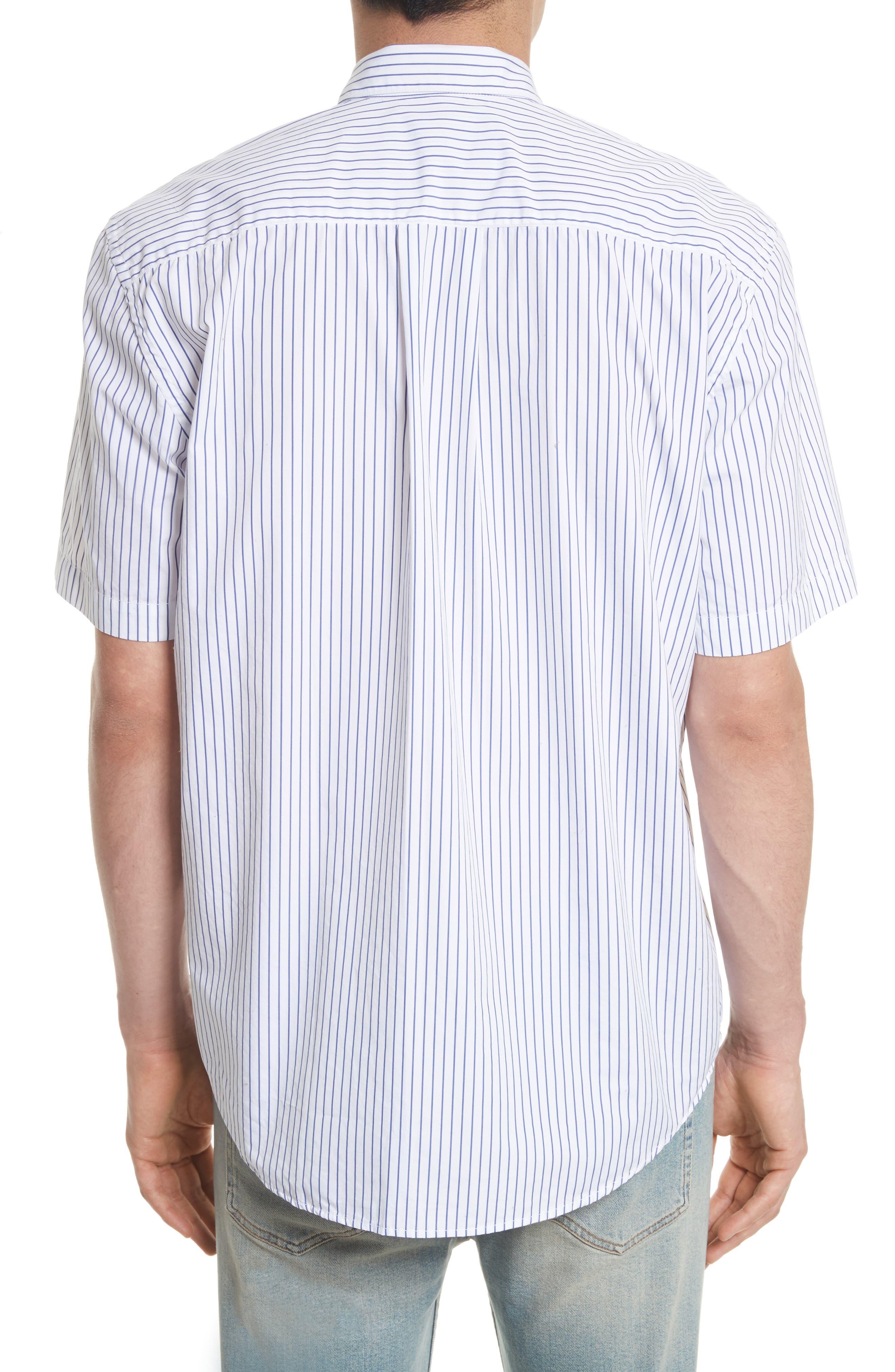 Stripe Short Sleeve Sport Shirt,                             Alternate thumbnail 3, color,                             400